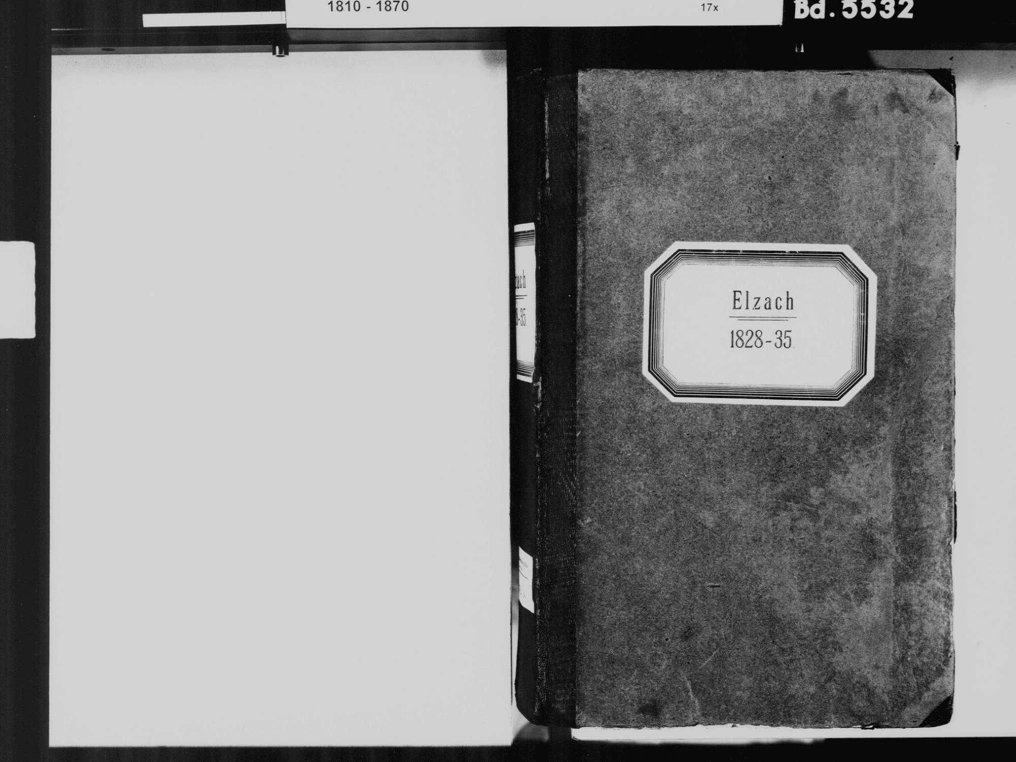 Elzach EM; Katholische Gemeinde: Standesbuch 1828-1835, Bild 3