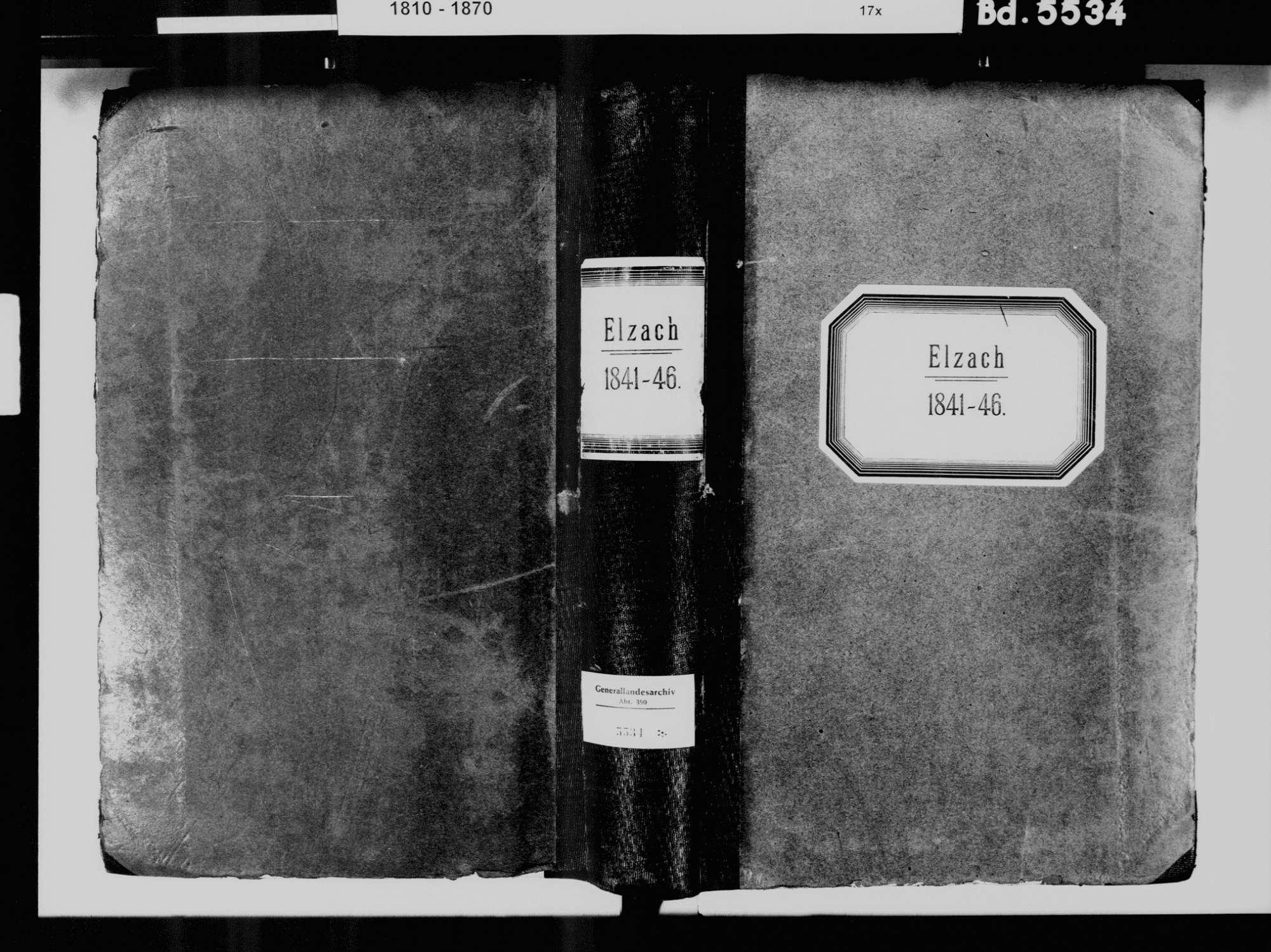 Elzach EM; Katholische Gemeinde: Standesbuch 1841-1846, Bild 2