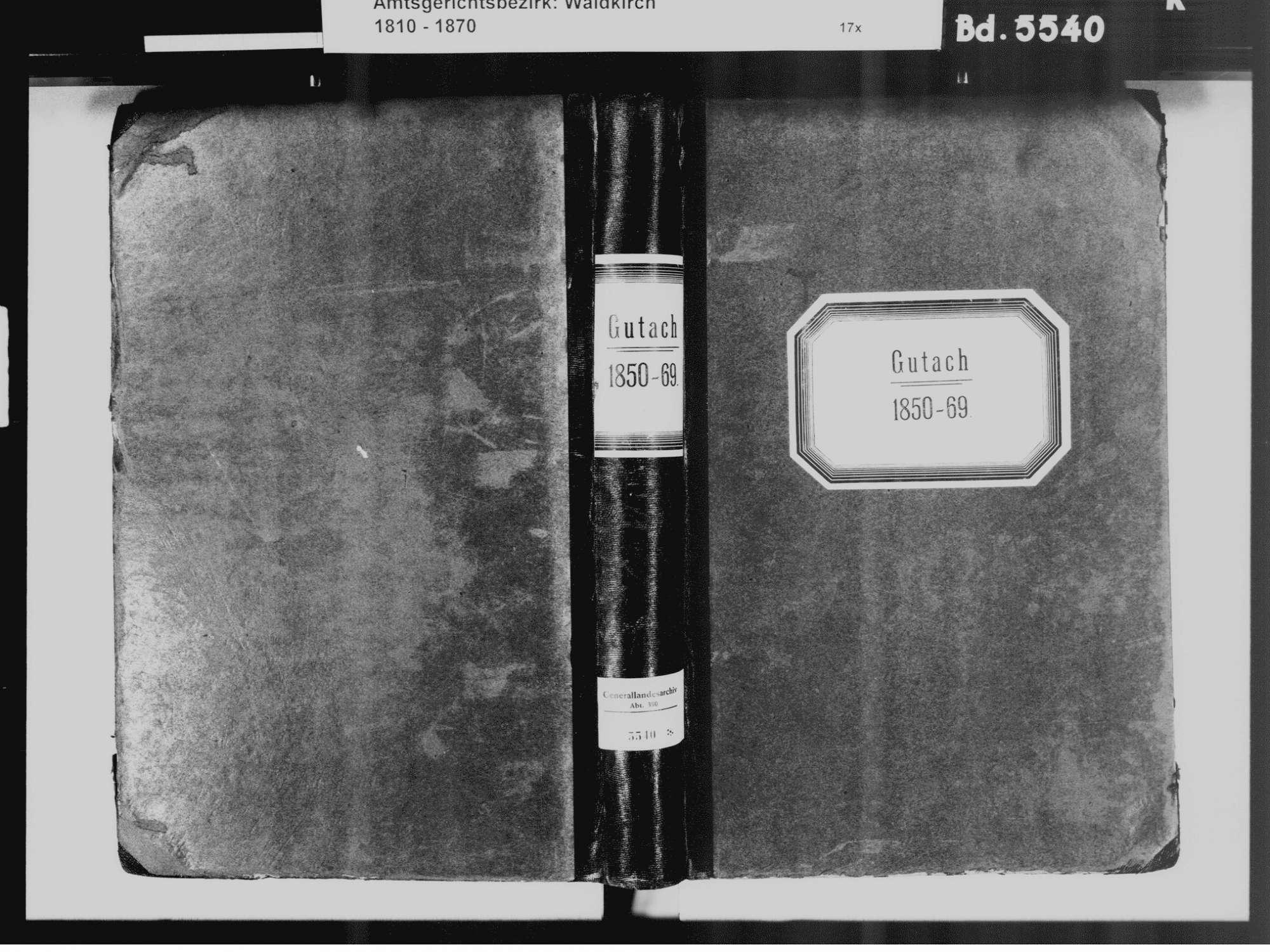 Gutach im Breisgau EM; Katholische Gemeinde: Standesbuch 1850-1869, Bild 2