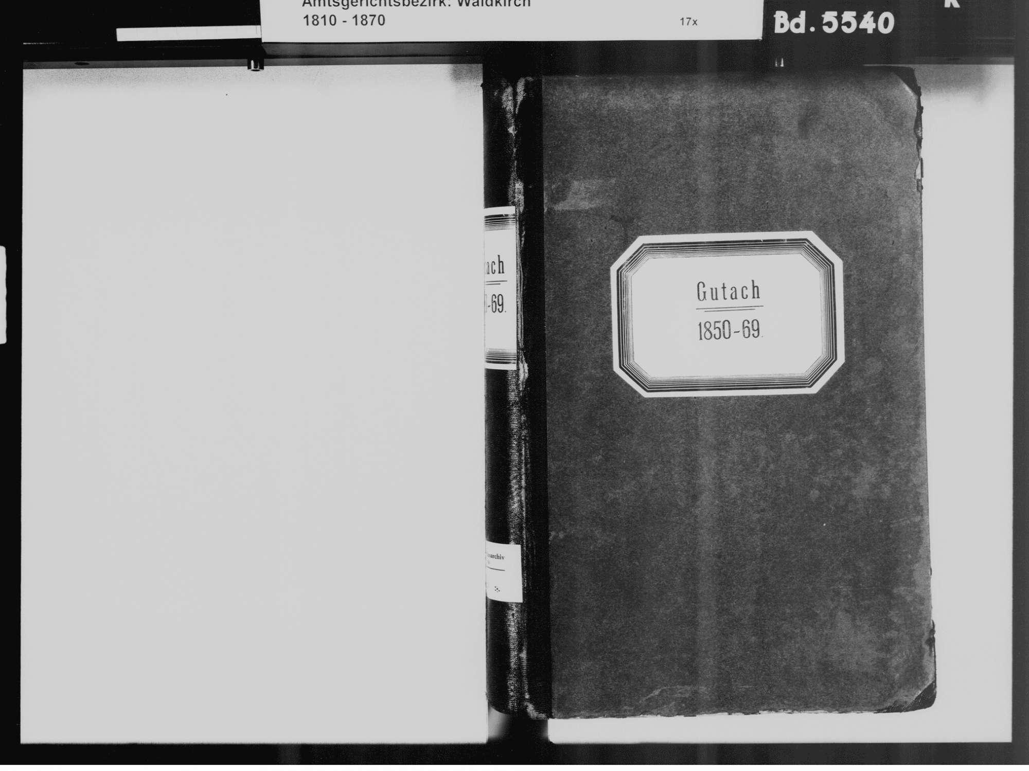 Gutach im Breisgau EM; Katholische Gemeinde: Standesbuch 1850-1869, Bild 3