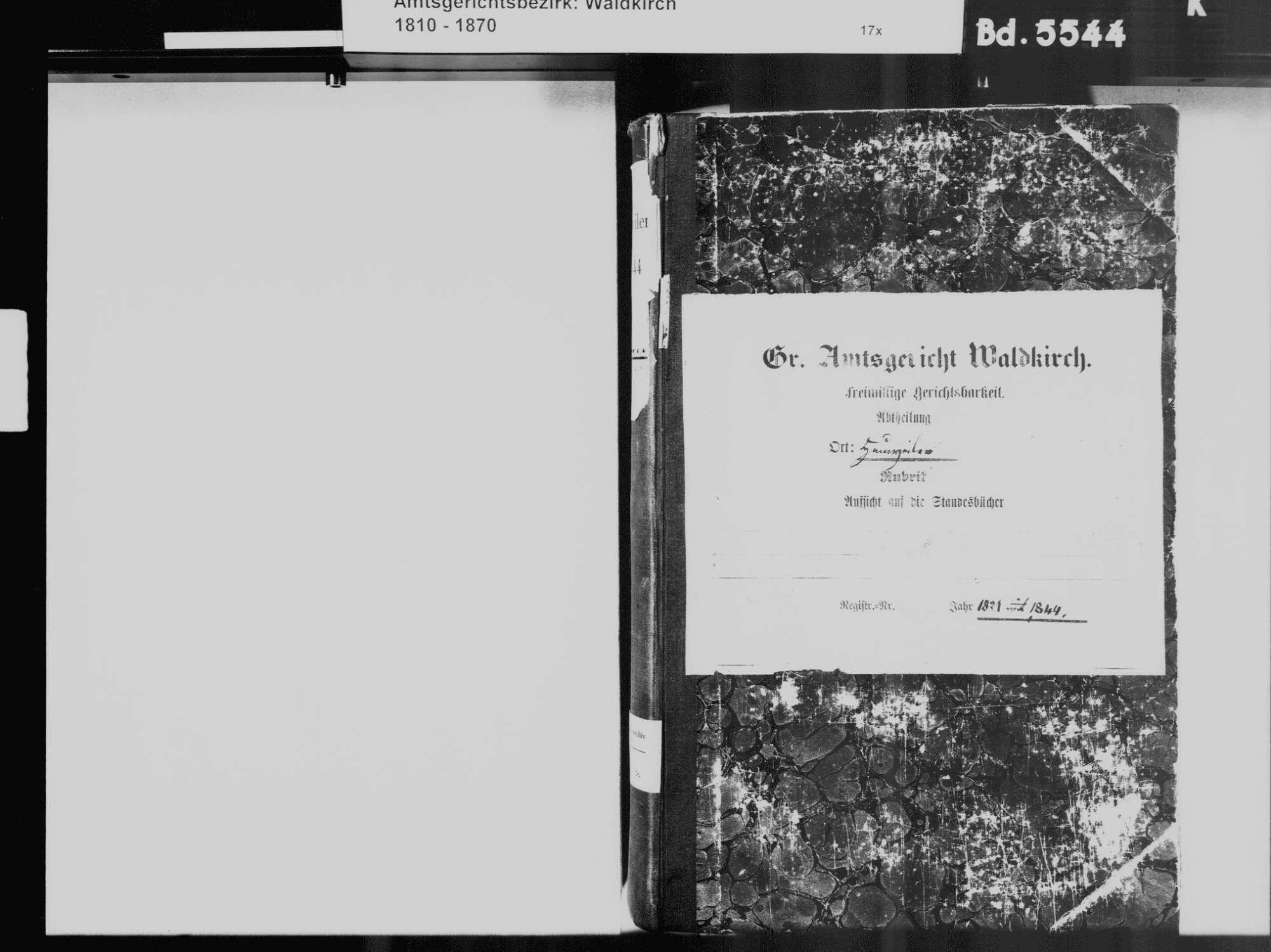 Heuweiler FR; Katholische Gemeinde: Standesbuch 1821-1844, Bild 3