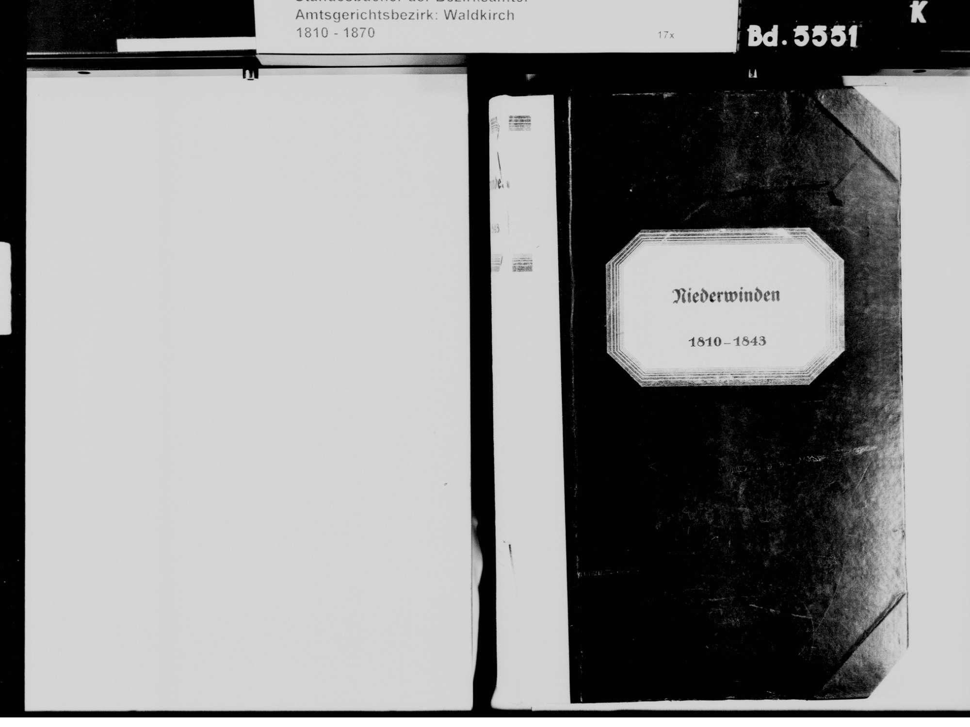 Niederwinden, Winden im Elztal EM; Katholische Gemeinde: Standesbcuh 1810-1843, Bild 3
