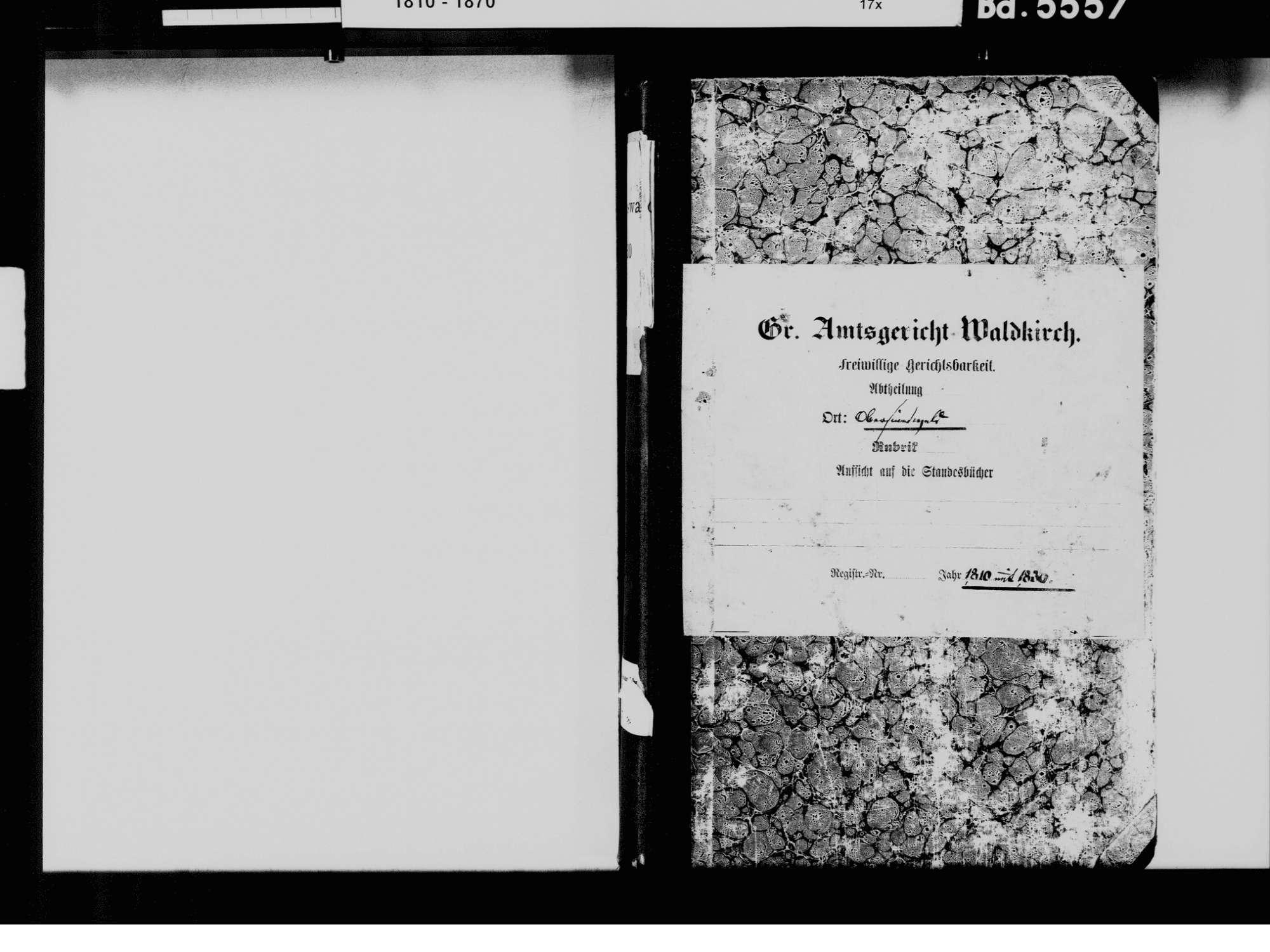 Obersimonswald, Simonswald EM; Katholische Gemeinde: Pfarrei St. Peter, Standesbuch 1810-1830, Bild 3