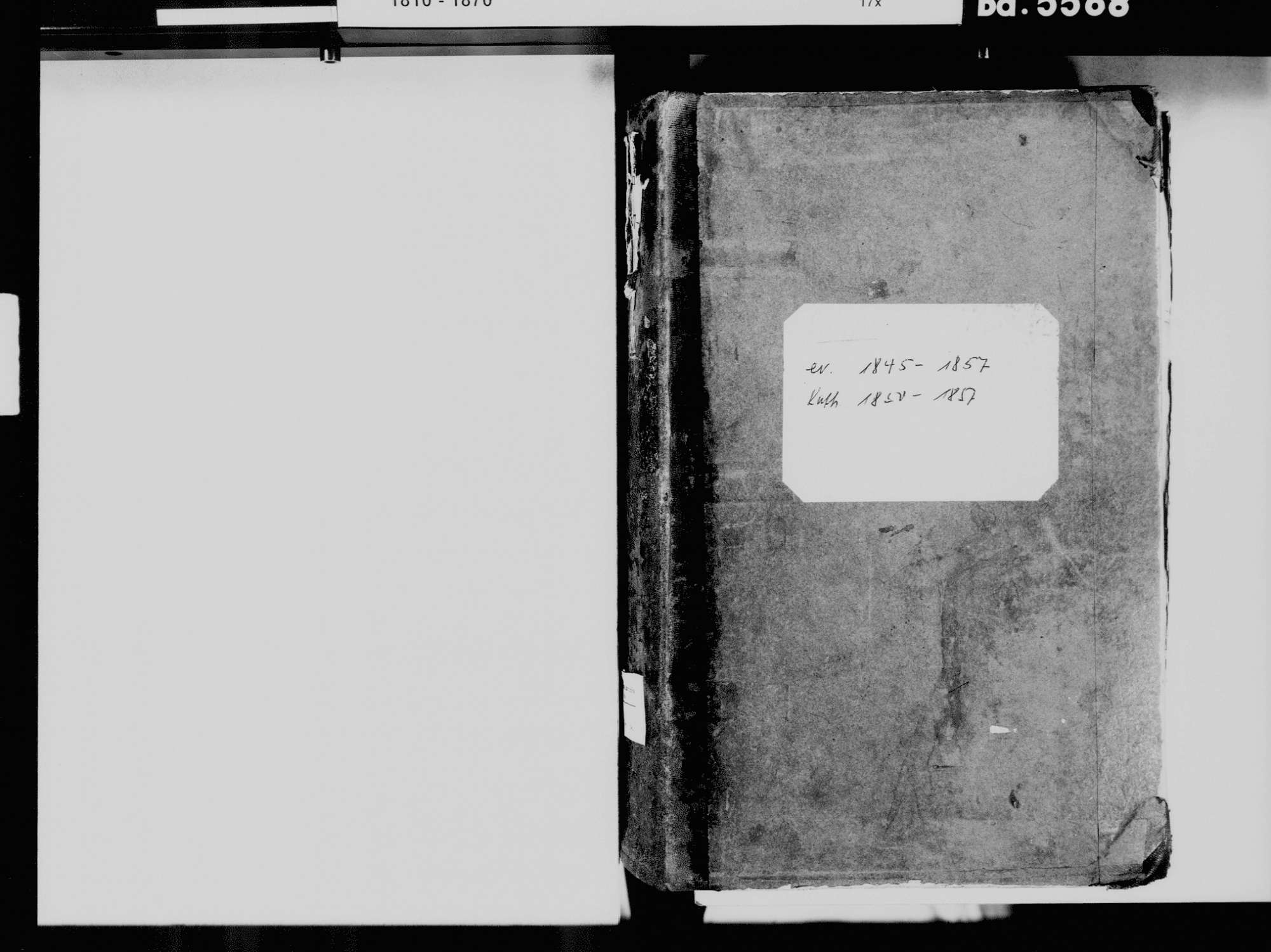 Prechtal, Elzach EM; Evangelische Gemeinde: Standesbuch 1845-1857 Prechtal, Elzach EM; Katholische Gemeinde: Standesbuch 1850-1857, Bild 3