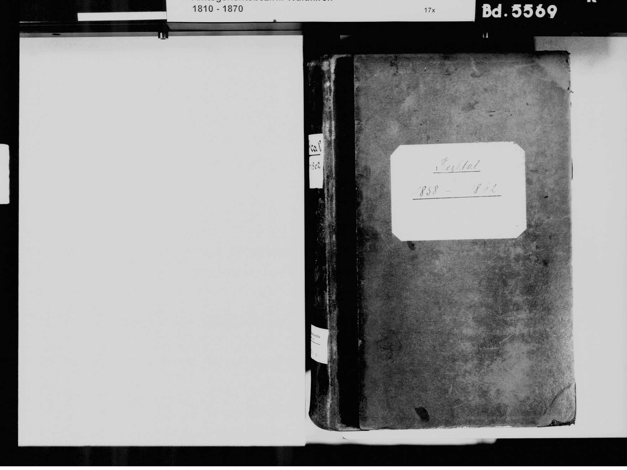 Prechtal, Elzach EM; Evangelische Gemeinde: Standesbuch 1858-1862 Prechtal, Elzach EM; Katholische Gemeinde: Standesbuch 1858-1862, Bild 3