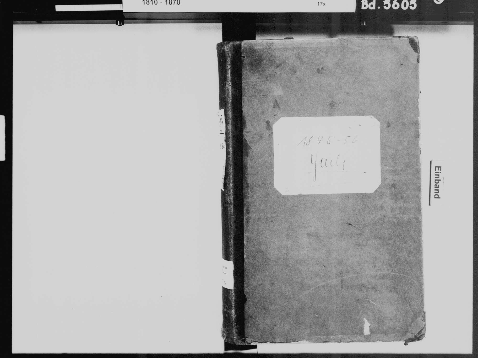 Yach, Elzach EM; Katholische Gemeinde: Standesbuch 1845-1856, Bild 2