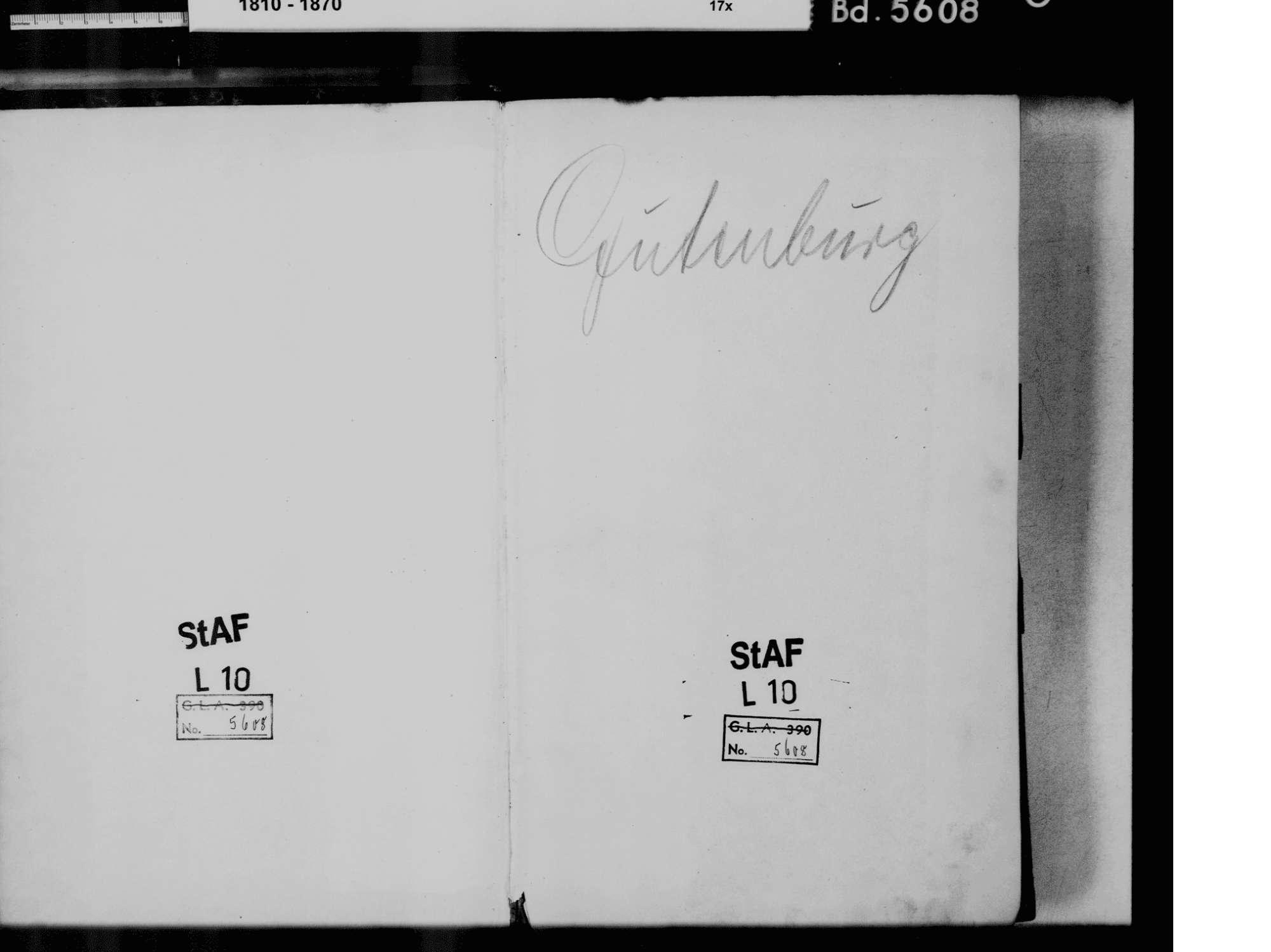 Gutenburg, Aichen, Waldshut-Tiengen WT; Katholische Gemeinde: Standesbuch 1810-1869 [Geburten 1311 siehe Heiraten], Bild 3