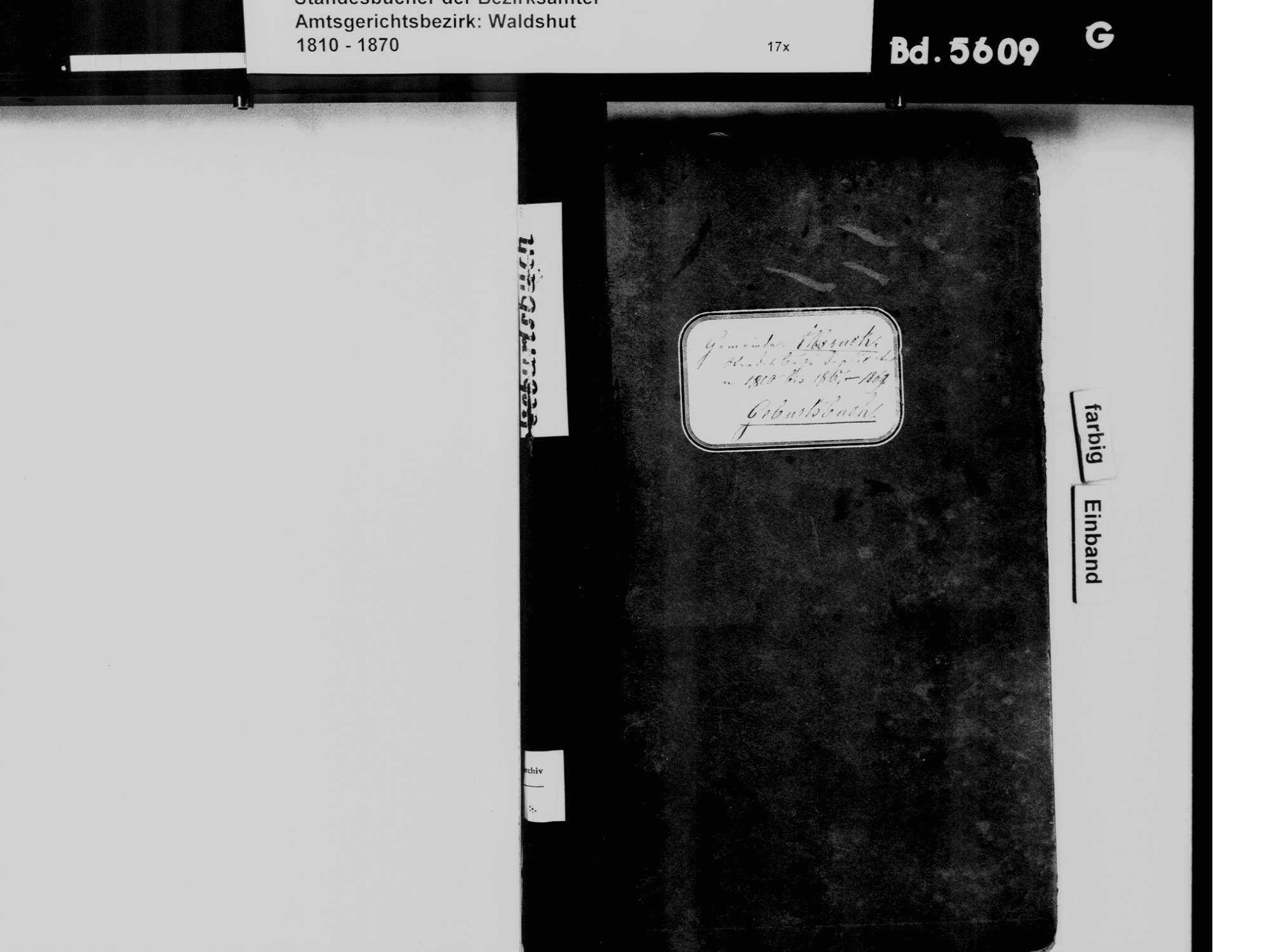 Albbruck WT; Katholische Gemeinde: Geburtenbuch 1810-1869, Bild 2