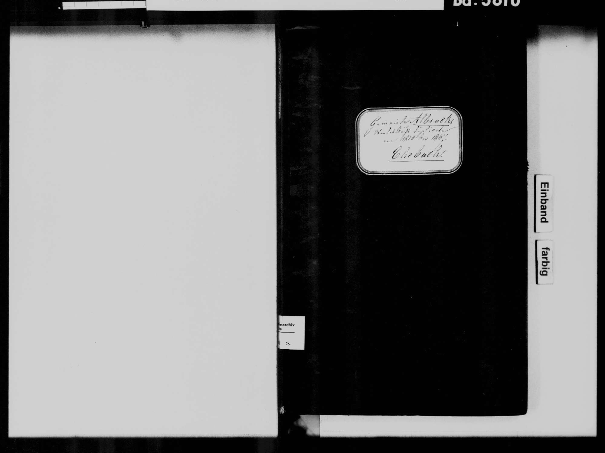 Albbruck WT; Katholische Gemeinde: Heiratsbuch 1810-1869, Bild 2