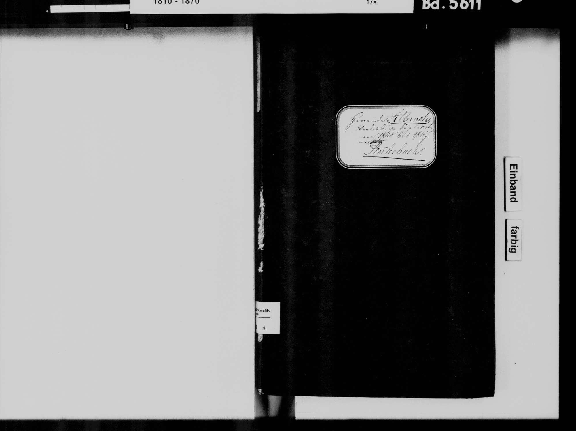 Albbruck WT; Katholische Gemeinde: Sterbebuch 1810-1869, Bild 2