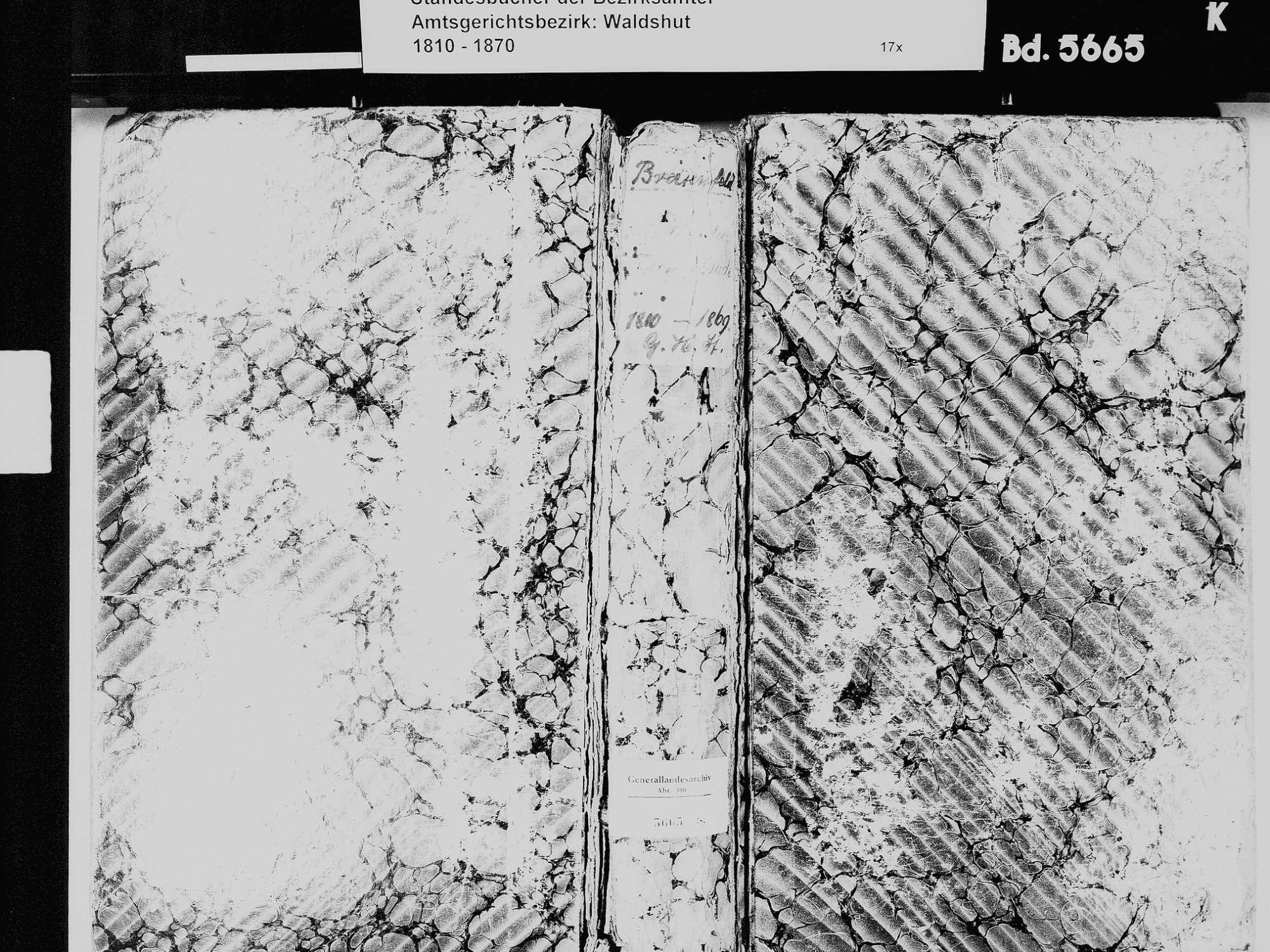Breitenfeld, Waldshut-Tiengen WT; Katholische Gemeinde: Standesbuch 1810-1869 [Heiraten 1811 siehe Geburten], Bild 2