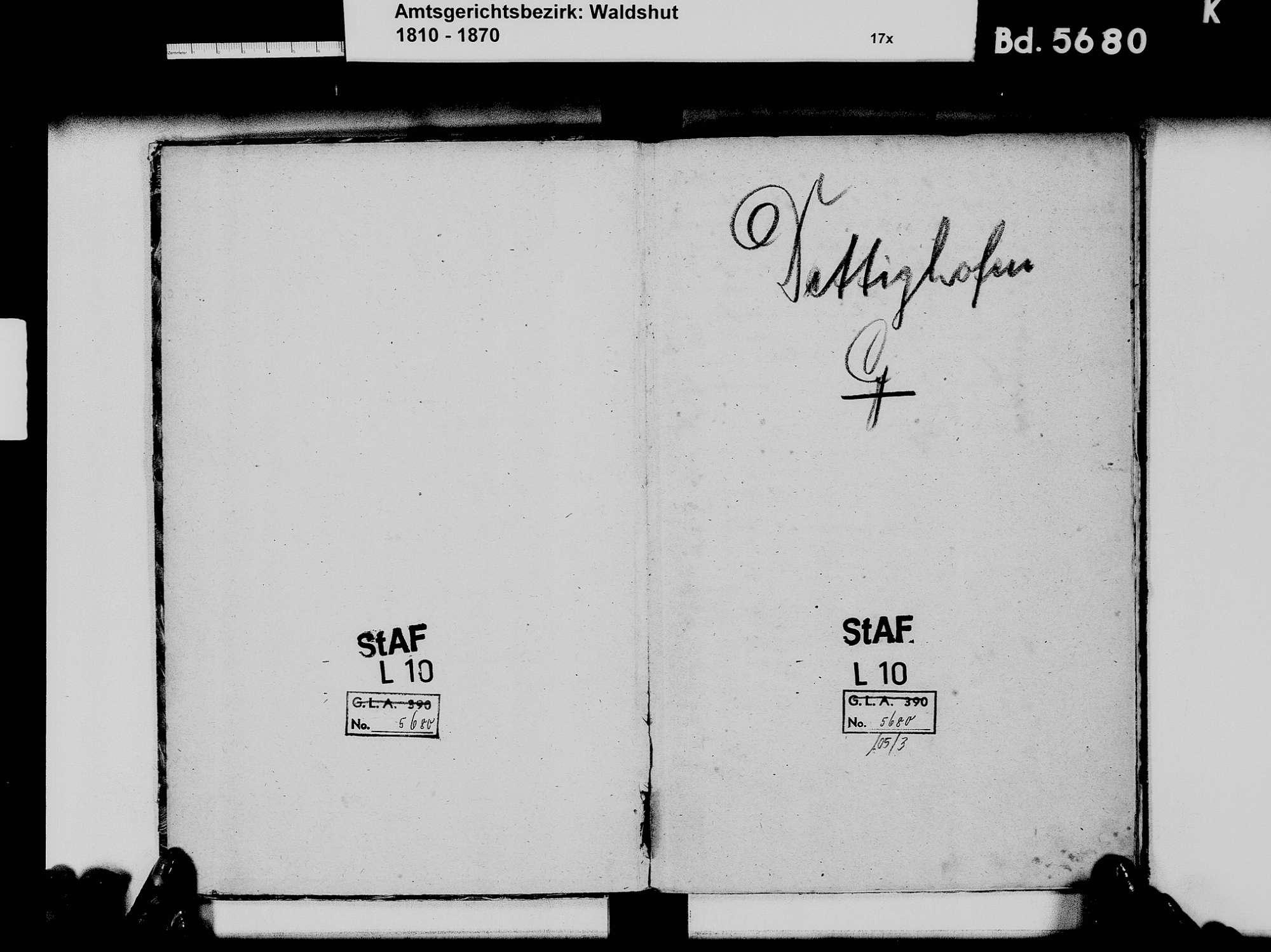 Dettighofen WT; Katholische Gemeinde: Geburtenbuch 1867-1869 Dettighofen WT; Katholische Gemeinde: Heiratsbuch 1867-1869 Dettighofen WT; Katholische Gemeinde: Sterbebuch 1867-1869, Bild 3