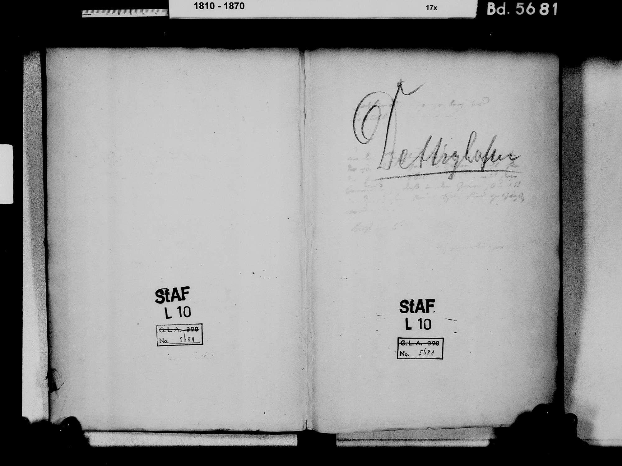 Dettighofen WT; Katholische Gemeinde: Heiratsbuch 1810-1866, Bild 3