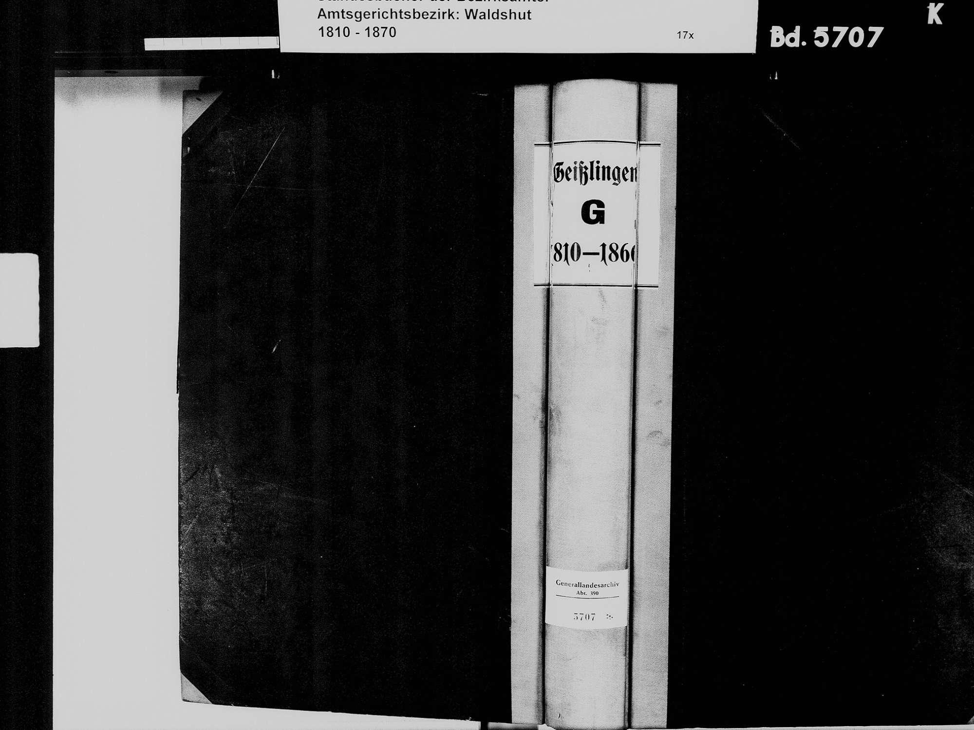 Geißlingen, Klettgau WT; Katholische Gemeinde: Geburtenbuch 1810-1866, Bild 2