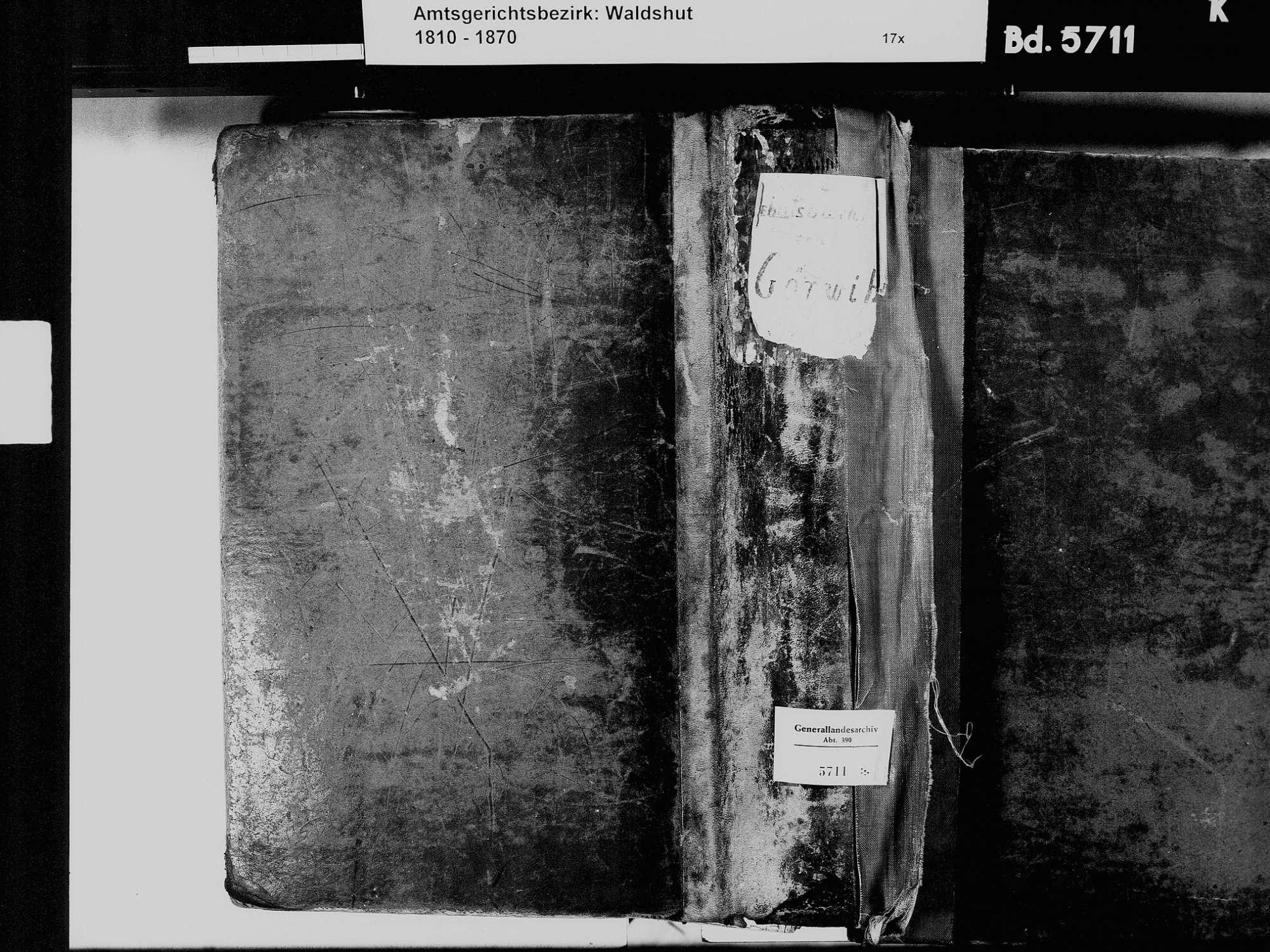 Görwihl WT; Katholische Gemeinde: Geburtenbuch 1810-1869 Görwihl WT; Katholische Gemeinde: Heiratsbuch 1823, 1849-1851 Görwihl WT; Katholische Gemeinde: Sterbebuch 1823, 1849-1851, Bild 2