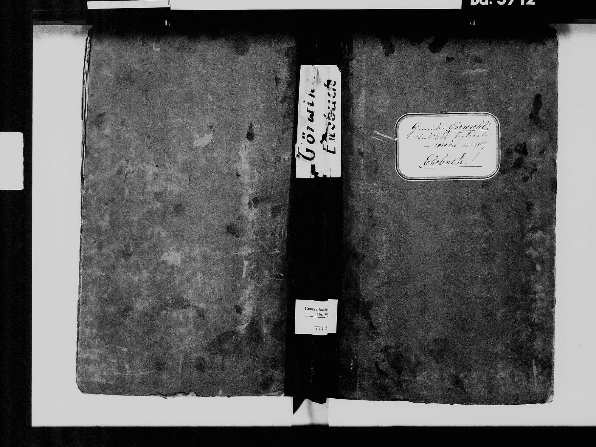 Görwihl WT; Katholische Gemeinde: Heiratsbuch 1810-1869, Bild 2