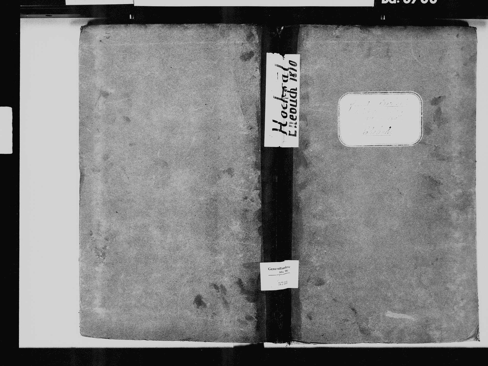 Hochsal, Laufenburg (Baden) WT; Katholische Gemeinde: Heiratsbuch 1810-1869 Hochsal, Laufenburg (Baden) WT; Katholische Gemeinde: Sterbebuch 1861, Bild 2