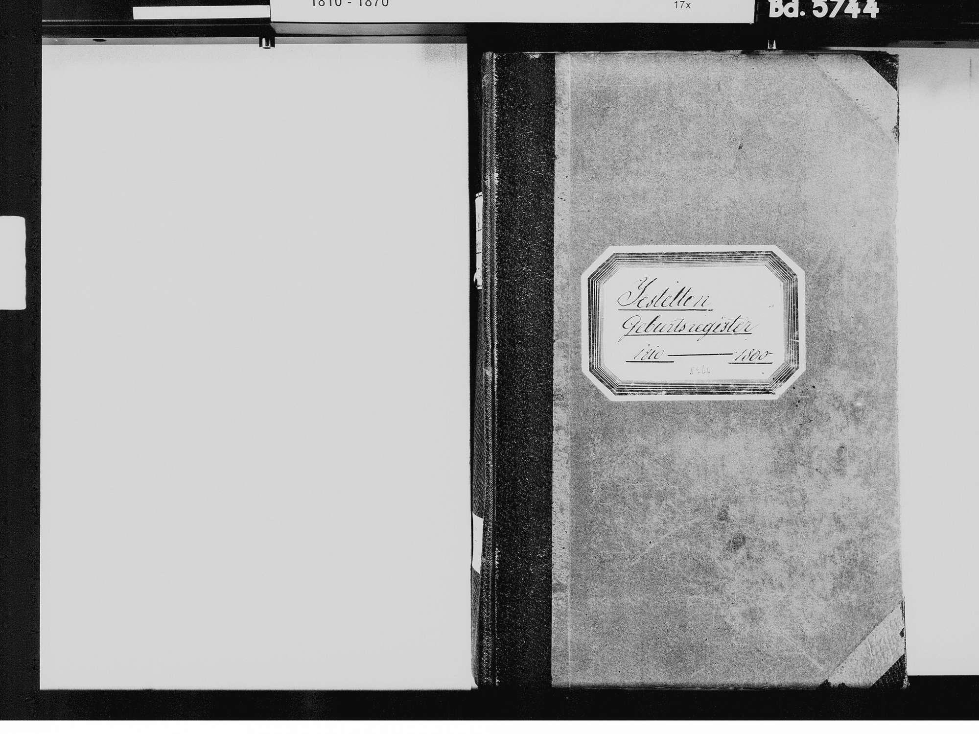 Jestetten WT; Katholische Gemeinde: Geburtenbuch 1810-1860, Bild 3