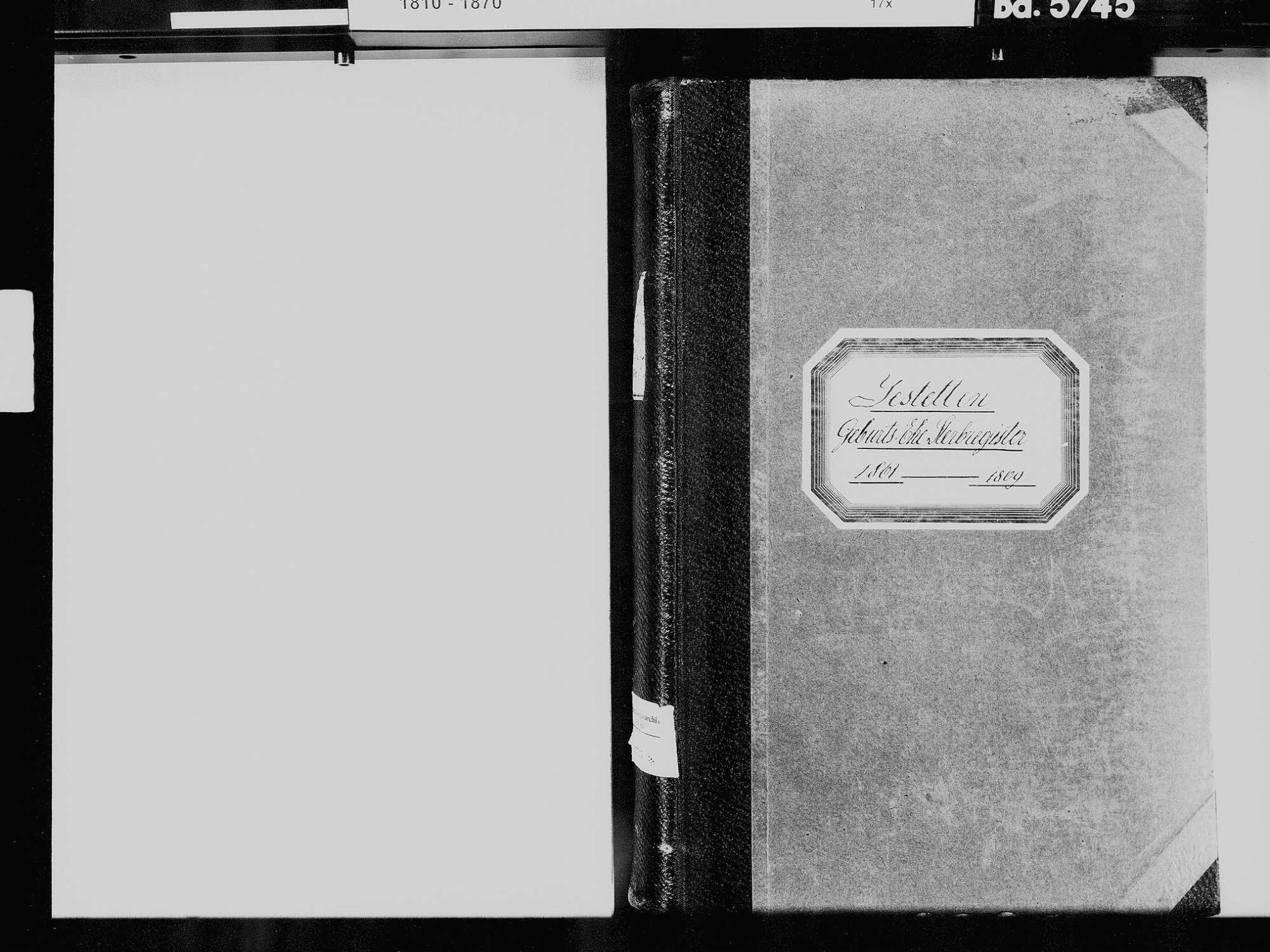 Jestetten WT; Katholische Gemeinde: Geburtenbuch 1861-1869 Jestetten WT; Katholische Gemeinde: Heiratsbuch 1861-1869 Jestetten WT; Katholische Gemeinde: Sterbebuch 1861-1869, Bild 3