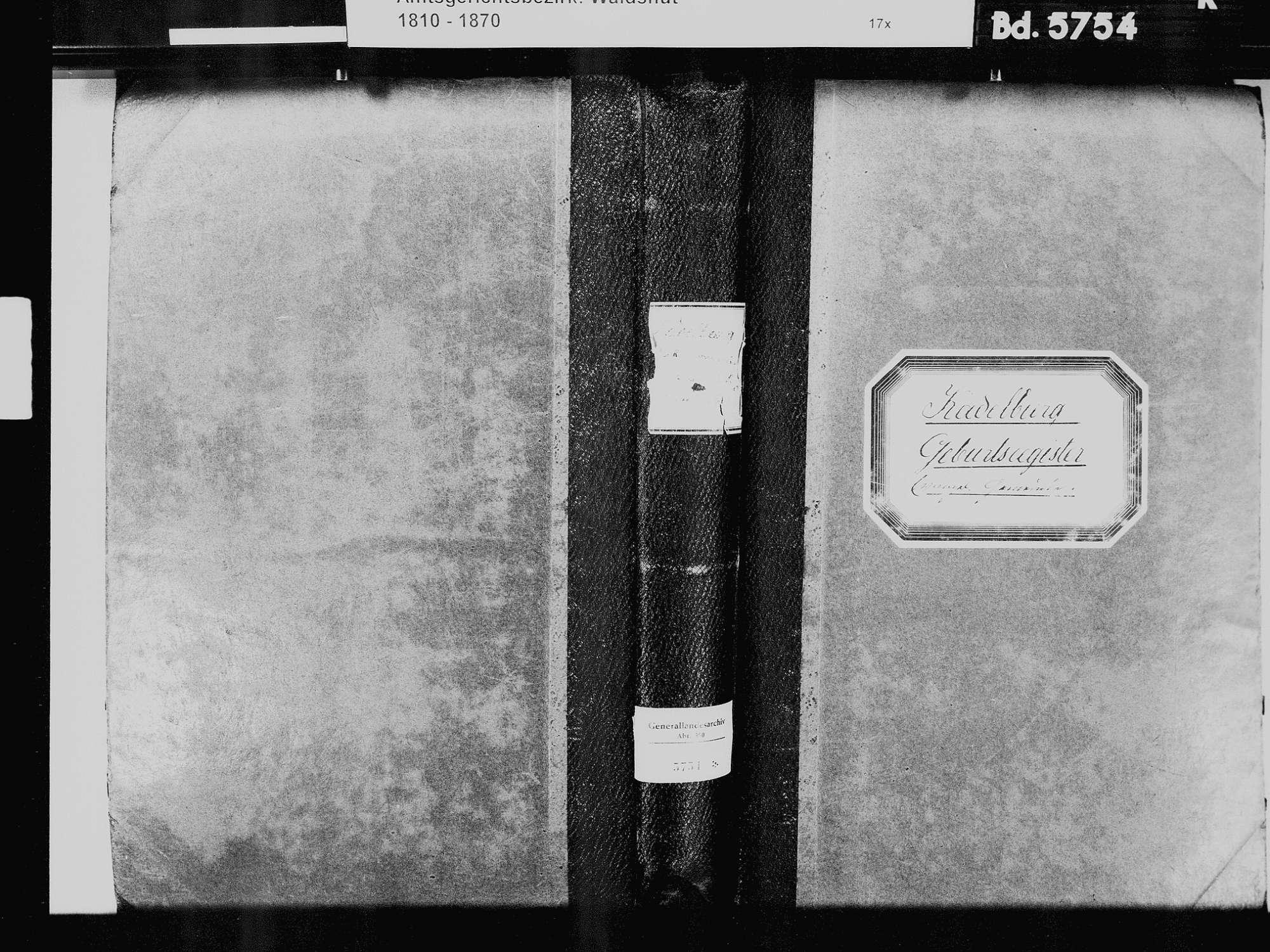 Kadelburg, Küssaberg WT; Evangelische Gemeinde: Geburtenbuch 1810-1869 Kadelburg, Küssaberg WT; Evangelische Gemeinde: Heiratsbuch 1835, Bild 2