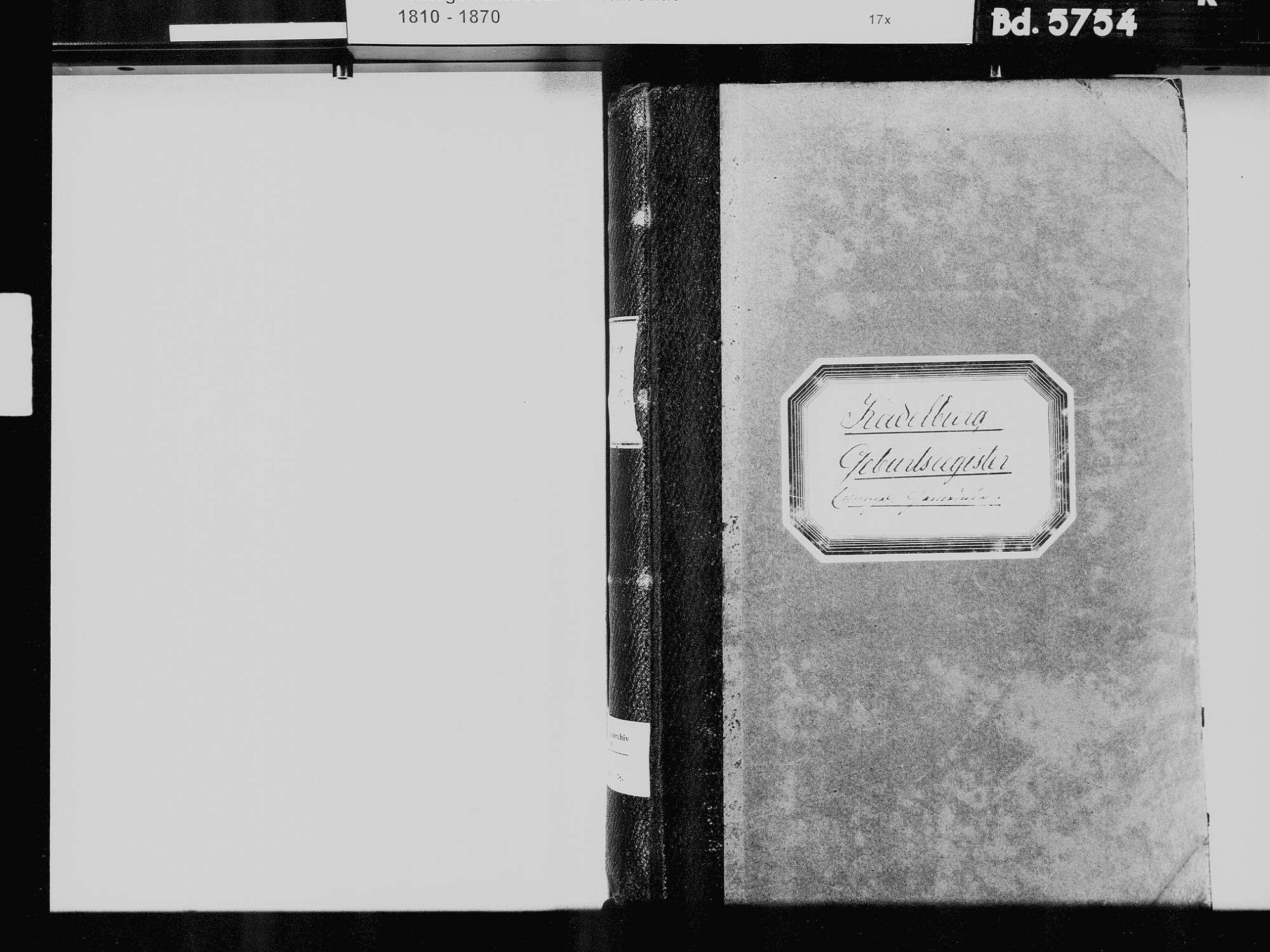 Kadelburg, Küssaberg WT; Evangelische Gemeinde: Geburtenbuch 1810-1869 Kadelburg, Küssaberg WT; Evangelische Gemeinde: Heiratsbuch 1835, Bild 3