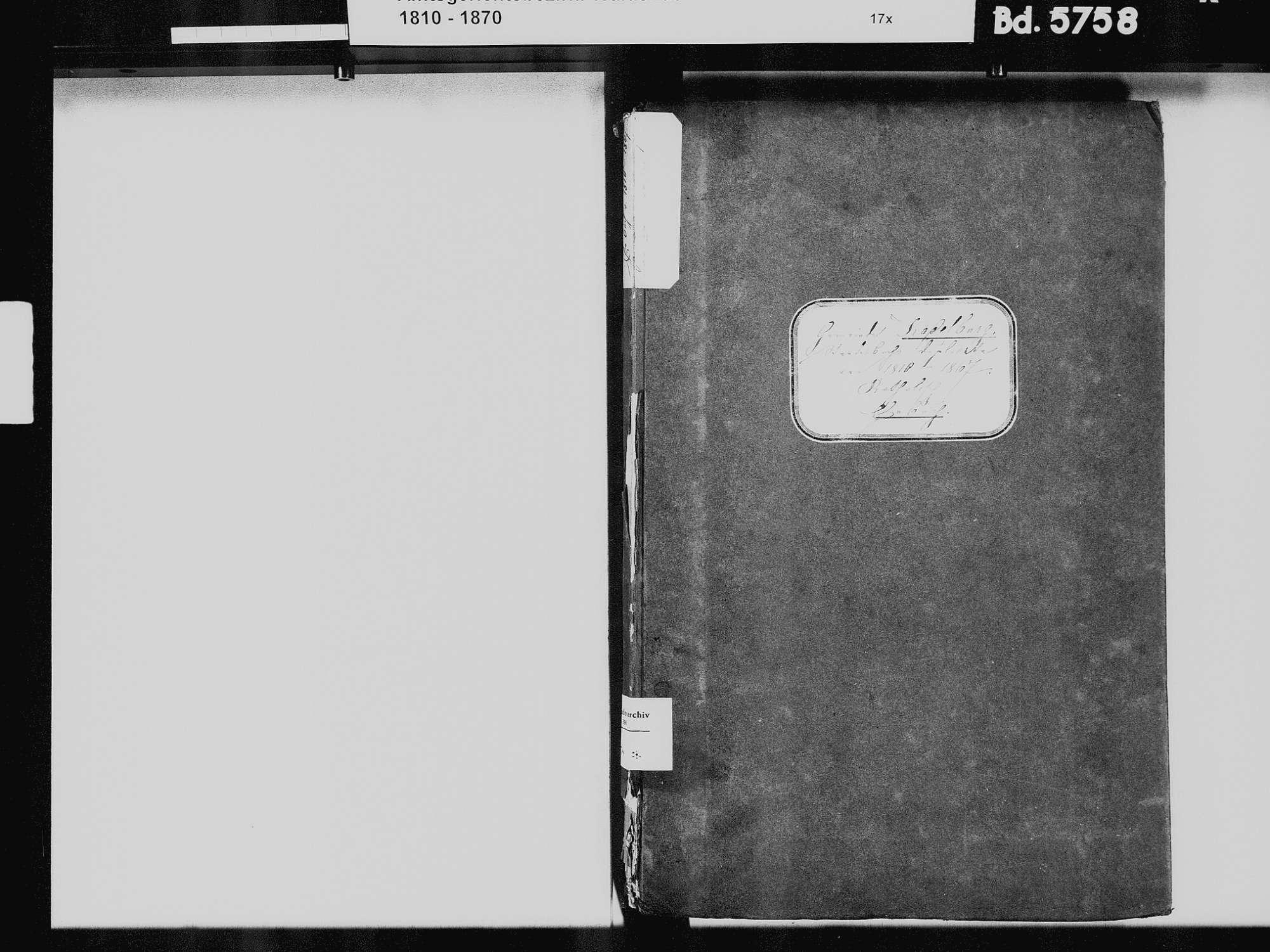 Kadelburg, Küssaberg WT; Katholische Gemeinde: Heiratsbuch 1810-1869 Kadelburg, Küssaberg WT; Katholische Gemeinde: Sterbebuch 1824-1825, 1833, Bild 3