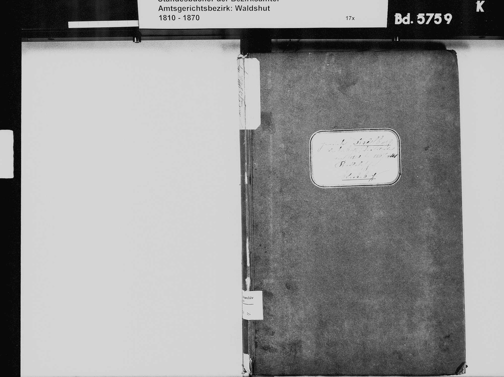 Kadelburg, Küssaberg WT; Katholische Gemeinde: Heiratsbuch 1821, 1829 Kadelburg, Küssaberg WT; Katholische Gemeinde: Sterbebuch 1810-1869, Bild 3