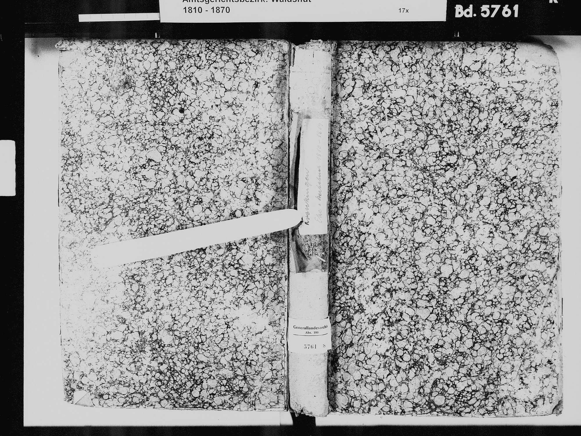 Krenkingen, Waldshut-Tiengen WT; Katholische Gemeinde: Heiratsbuch 1810-1869 Krenkingen, Waldshut-Tiengen WT; Katholische Gemeinde: Sterbebuch 1810-1869, Bild 3