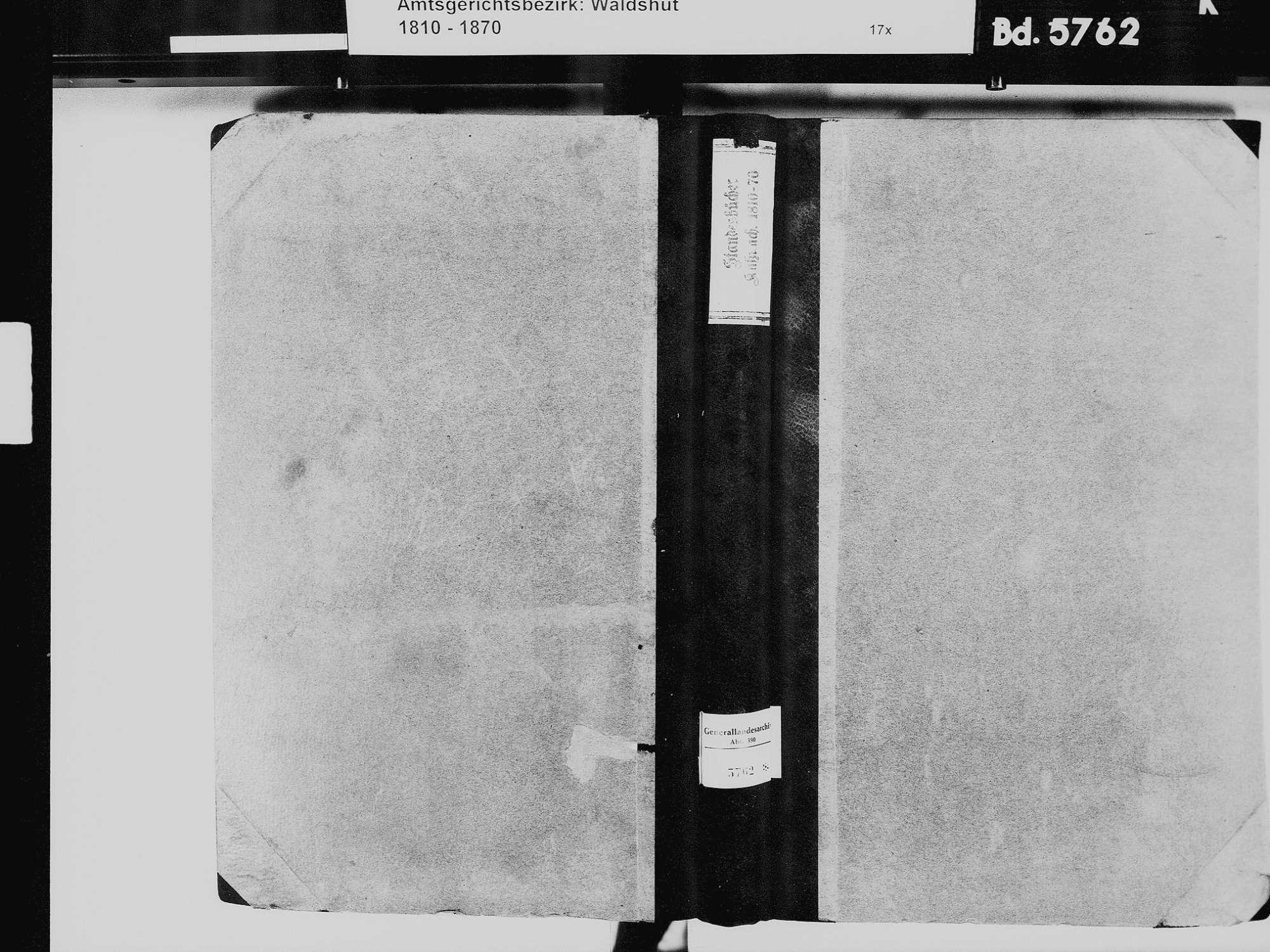 Küßnach, Küssaberg WT; Katholische Gemeinde: Geburtenbuch 1810-1869 Küßnach, Küssaberg WT; Katholische Gemeinde: Heiratsbuch 1829-1834 Küßnach, Küssaberg WT; Katholische Gemeinde: Sterbebuch 1834, 1838-1839, 1843, Bild 2