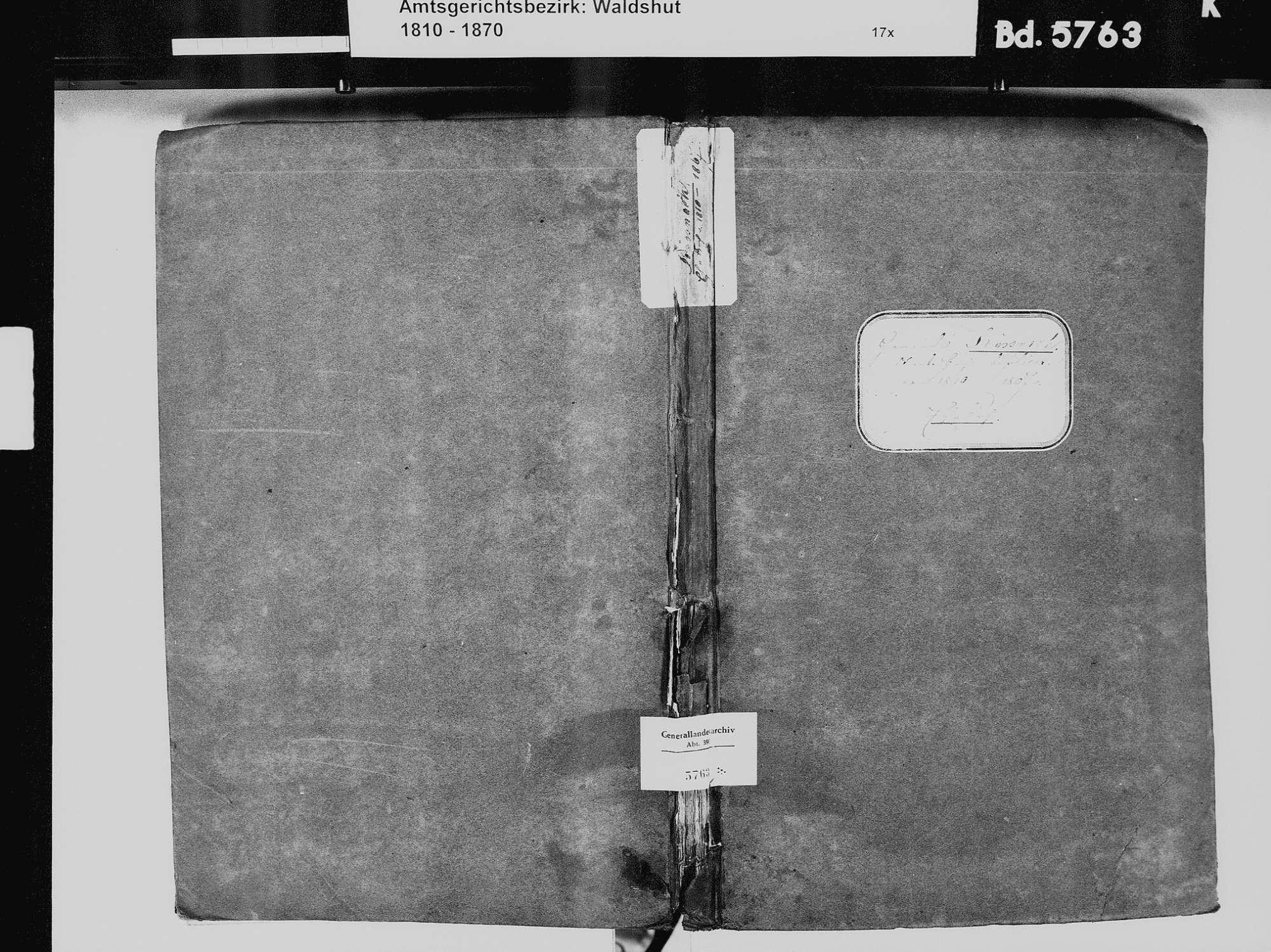 Küßnach, Küssaberg WT; Katholische Gemeinde: Heiratsbuch 1810-1869 Küßnach, Küssaberg WT; Katholische Gemeinde: Sterbebuch 18234, 1836, Bild 2