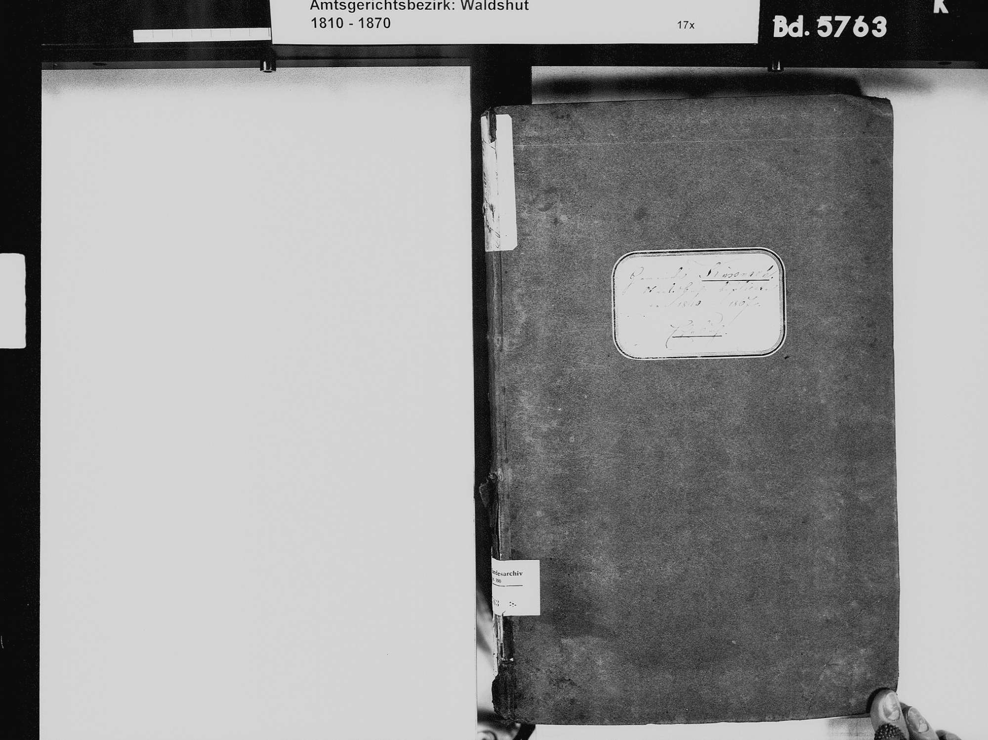 Küßnach, Küssaberg WT; Katholische Gemeinde: Heiratsbuch 1810-1869 Küßnach, Küssaberg WT; Katholische Gemeinde: Sterbebuch 18234, 1836, Bild 3