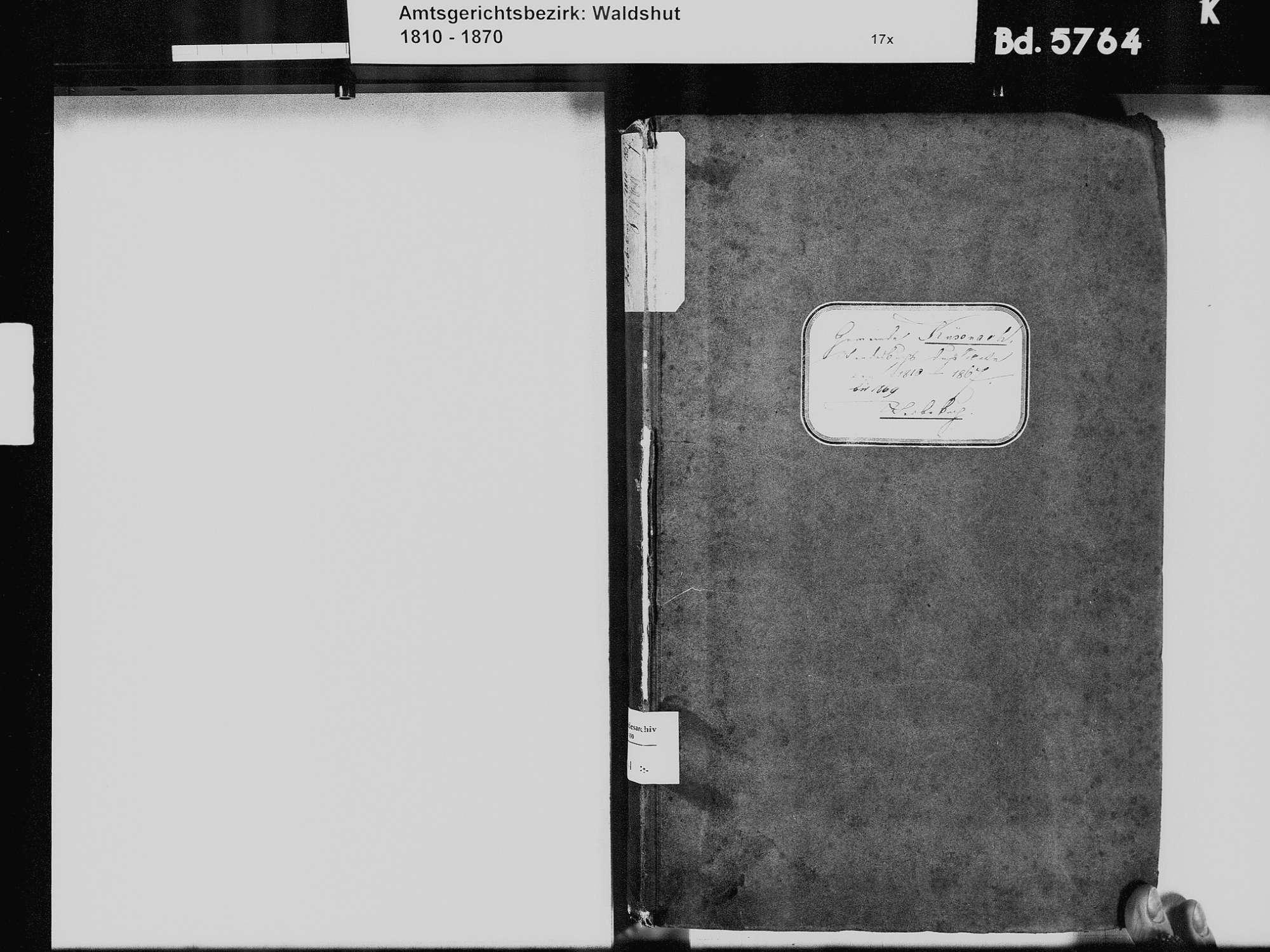 Küßnach, Küssaberg WT; Katholische Gemeinde: Heiratsbuch 1828-1837 Küßnach, Küssaberg WT; Katholische Gemeinde: Sterbebuch 1810-1869, Bild 3