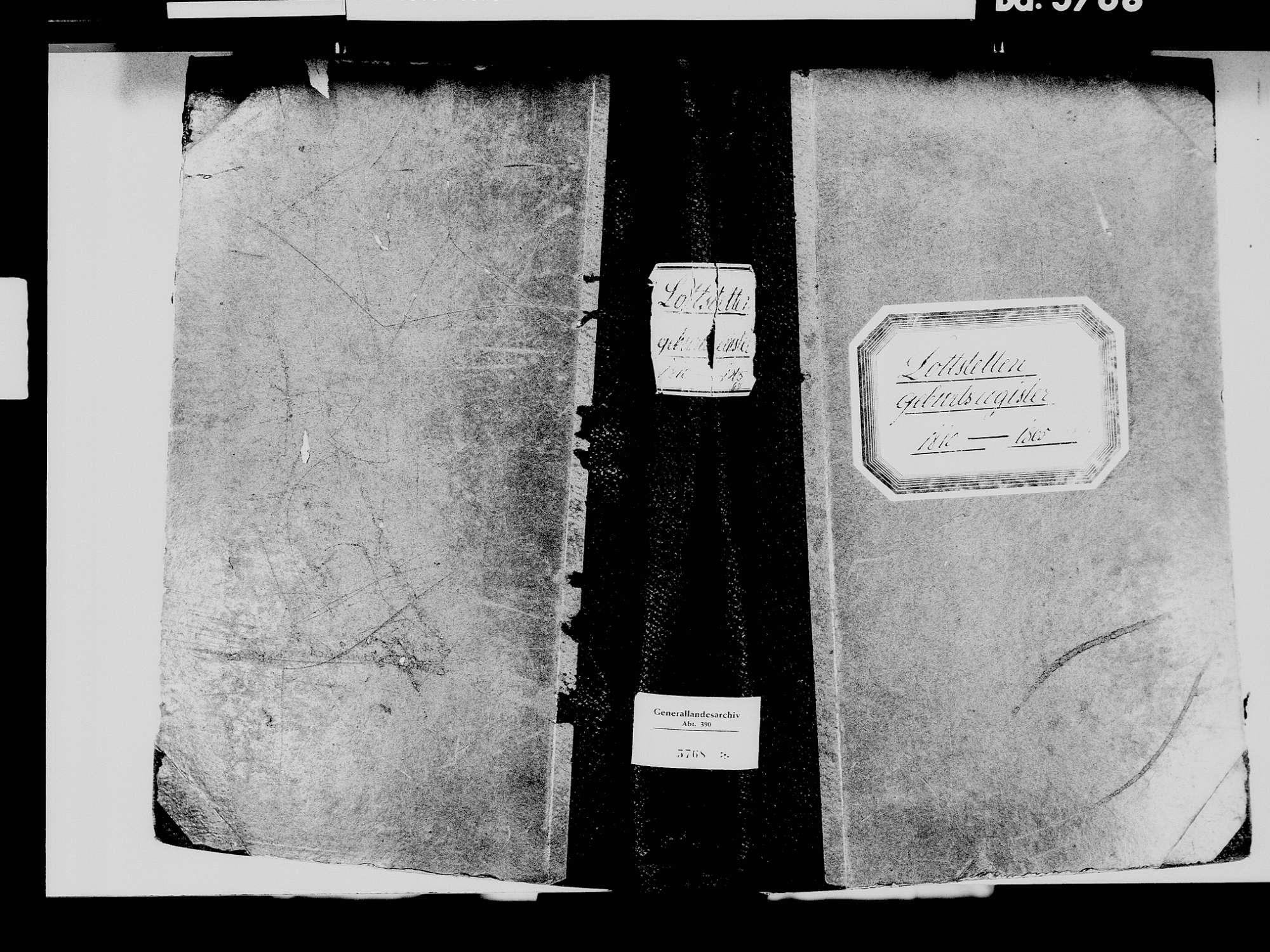 Lottstetten WT; Katholische Gemeinde: Geburtenbuch 1810-1864 Lottstetten WT; Katholische Gemeinde: Heiratsbuch 1812, 1825 Lottstetten WT; Katholische Gemeinde: Sterbebuch 1812, 1825, Bild 2