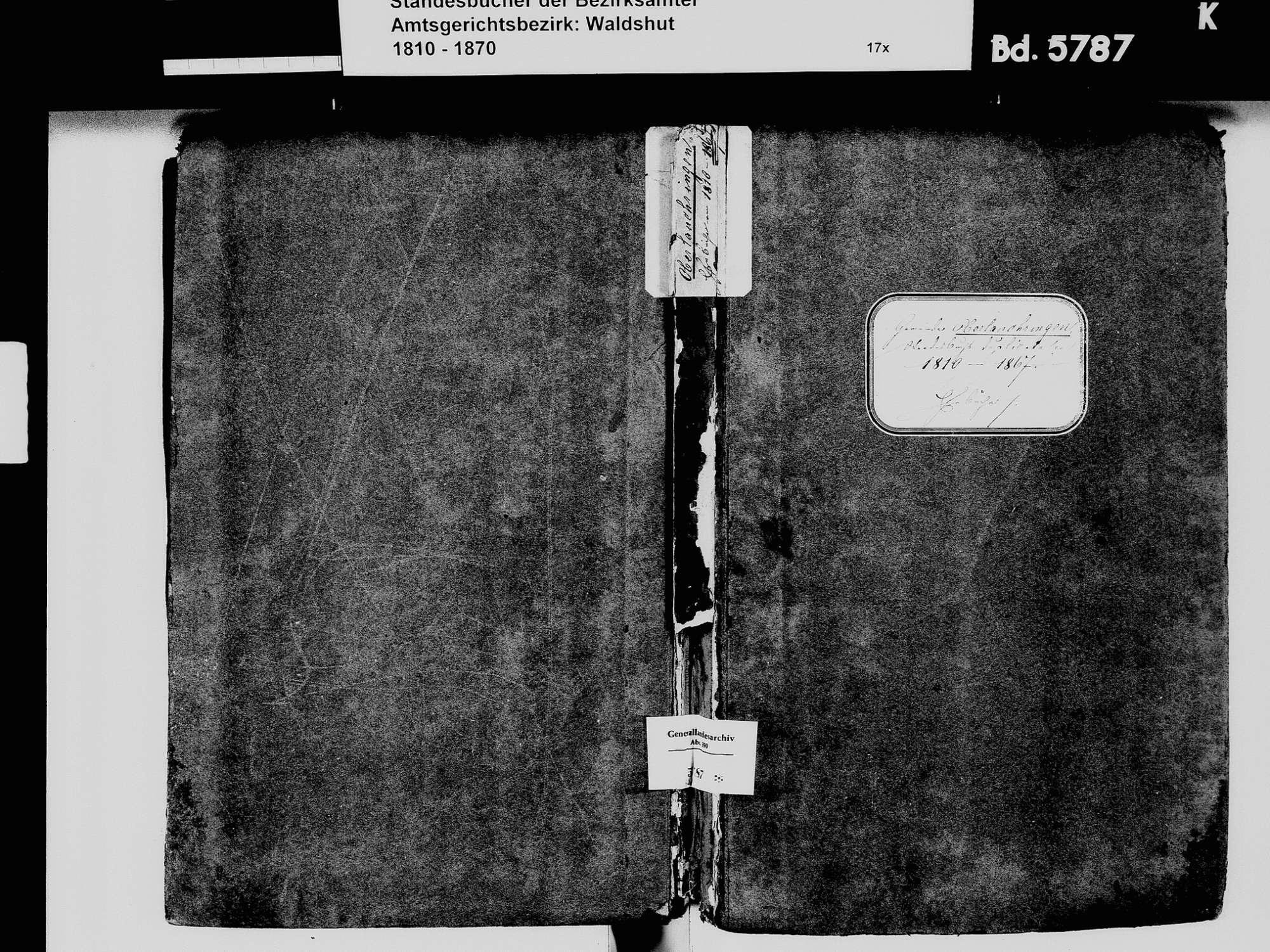 Oberlauchringen, Lauchringen WT; Katholische Gemeinde: Heiratsbuch 1810-1869 Oberlauchringen, Lauchringen WT; Katholische Gemeinde: Sterbebuch 1818, Bild 2