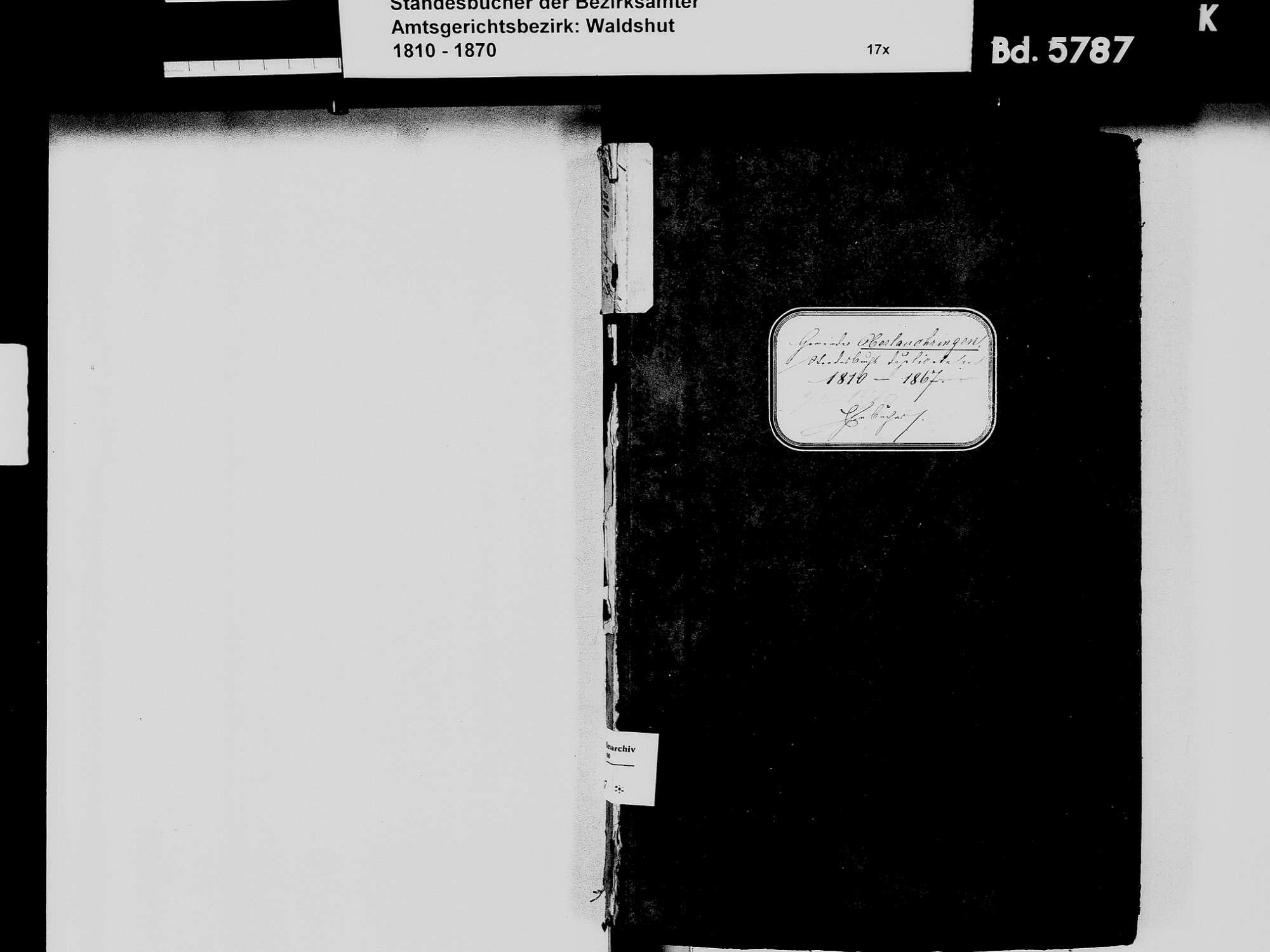 Oberlauchringen, Lauchringen WT; Katholische Gemeinde: Heiratsbuch 1810-1869 Oberlauchringen, Lauchringen WT; Katholische Gemeinde: Sterbebuch 1818, Bild 3