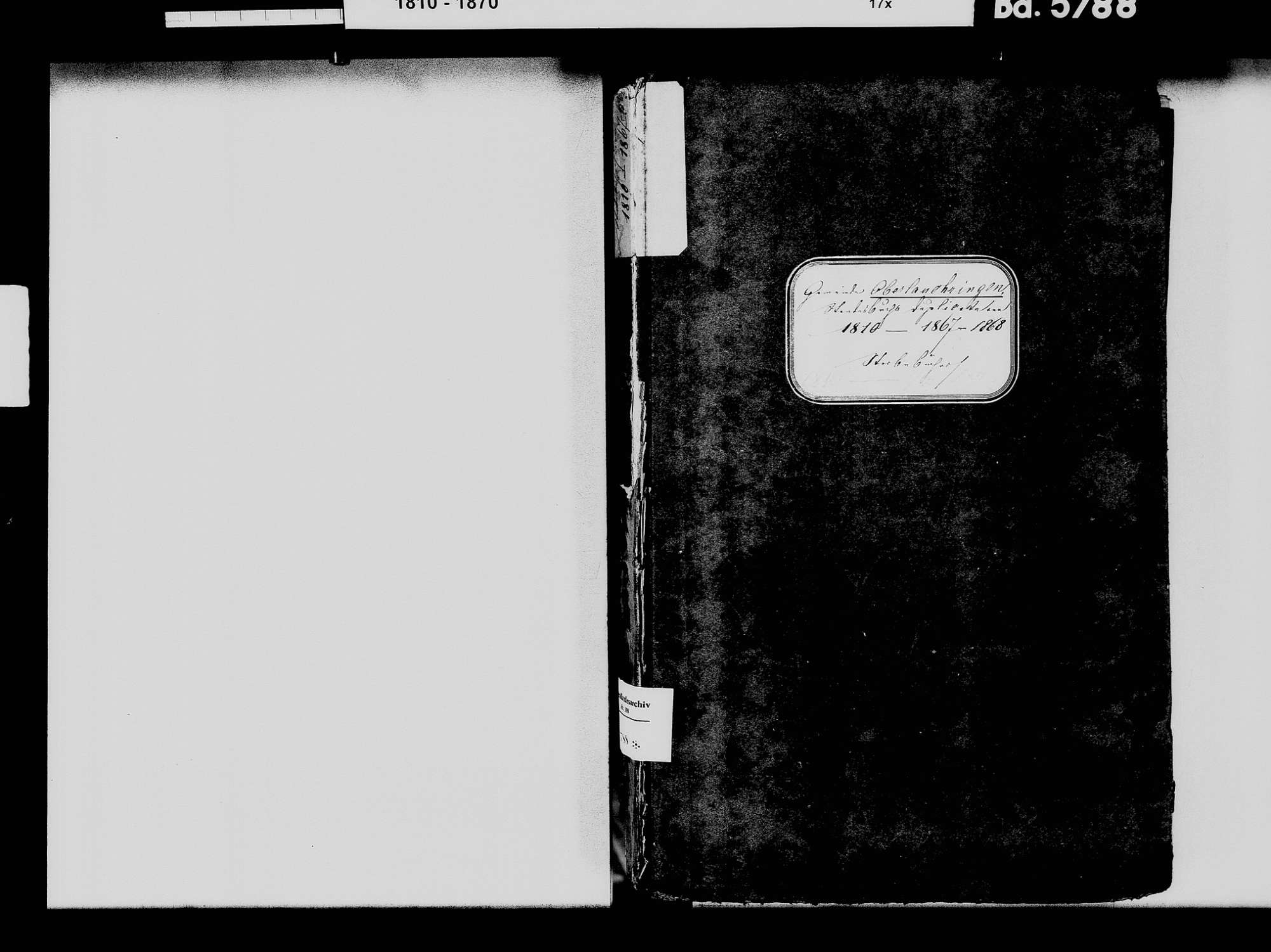 Oberlauchringen, Lauchringen WT; Katholische Gemeinde: Heiratsbuch 1816 Oberlauchringen, Lauchringen WT; Katholische Gemeinde: Sterbebuch 1810-1869, Bild 3