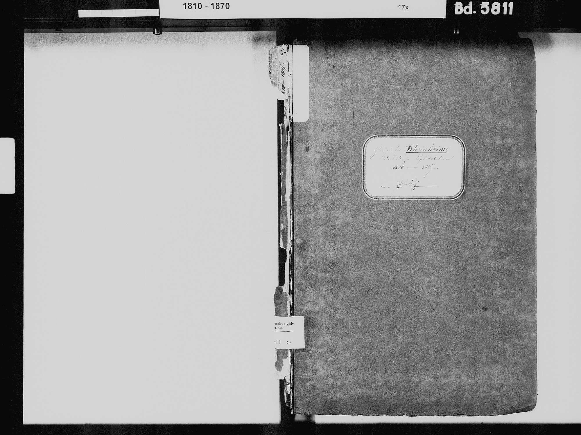 Rheinheim, Küssaberg WT; Katholische Gemeinde: Heiratsbuch 1810-1869 Rheinheim, Küssaberg WT; Katholische Gemeinde: Sterbebuch 1812, Bild 3