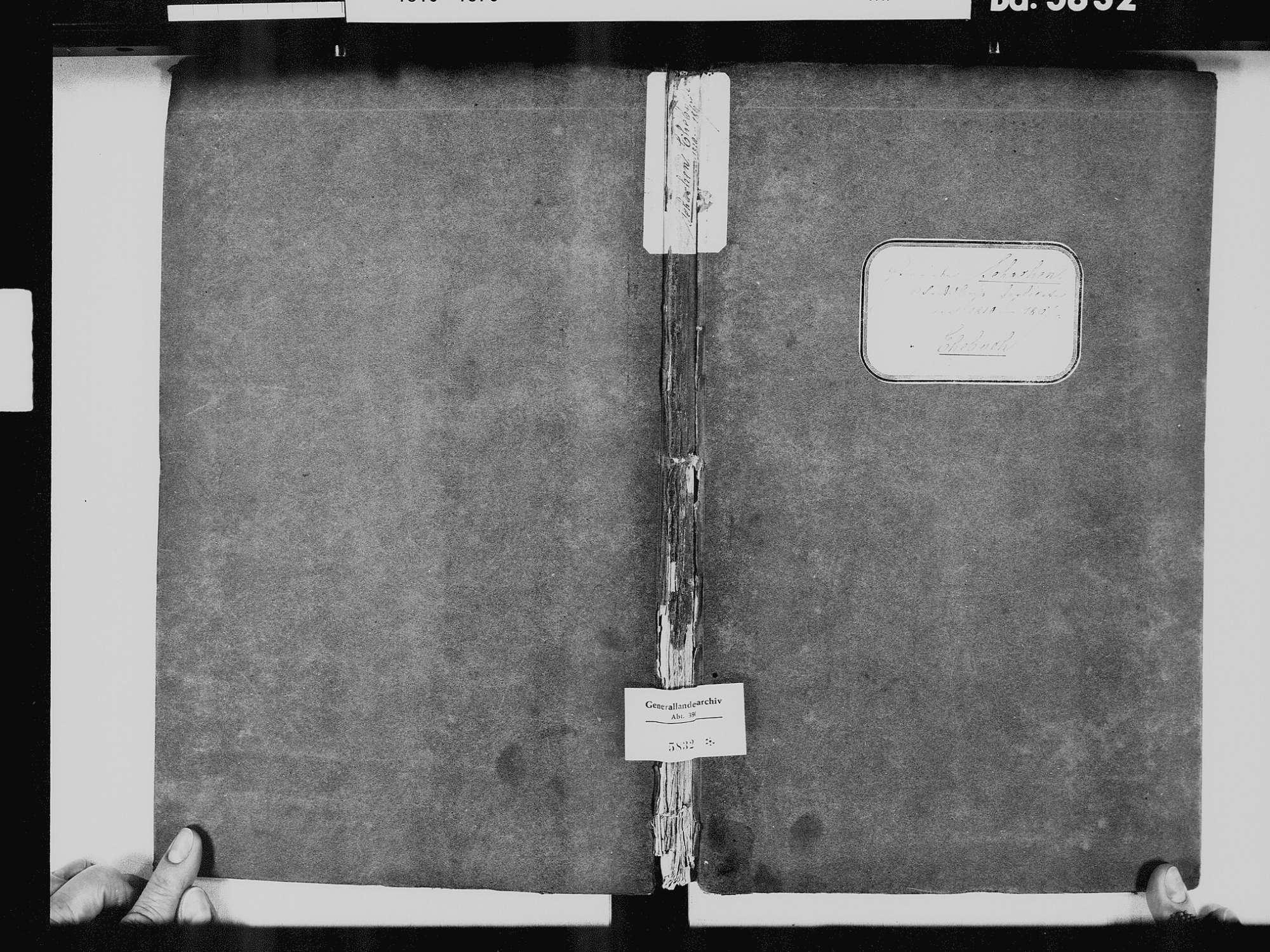 Schachen, Albbruck WT; Katholische Gemeinde: Heiratsbuch 1810-1869, Bild 2