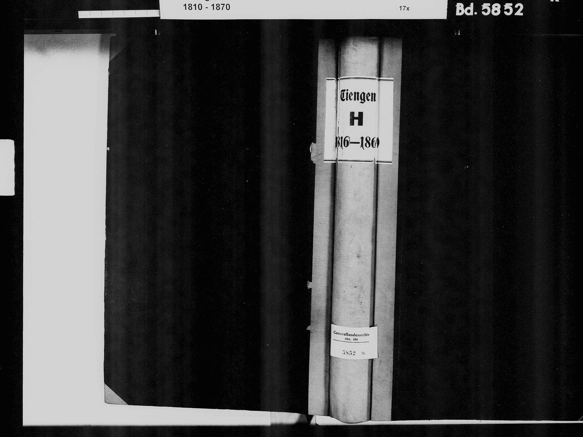 Tiengen/Hochrhein, Waldshut-Tiengen WT; Katholische Gemeinde: Heiratsbuch 1810-1869 Tiengen/Hochrhein, Waldshut-Tiengen WT; Israelitische Gemeinde: Heiratsbuch 1821-1822, 1829, 1866, Bild 2
