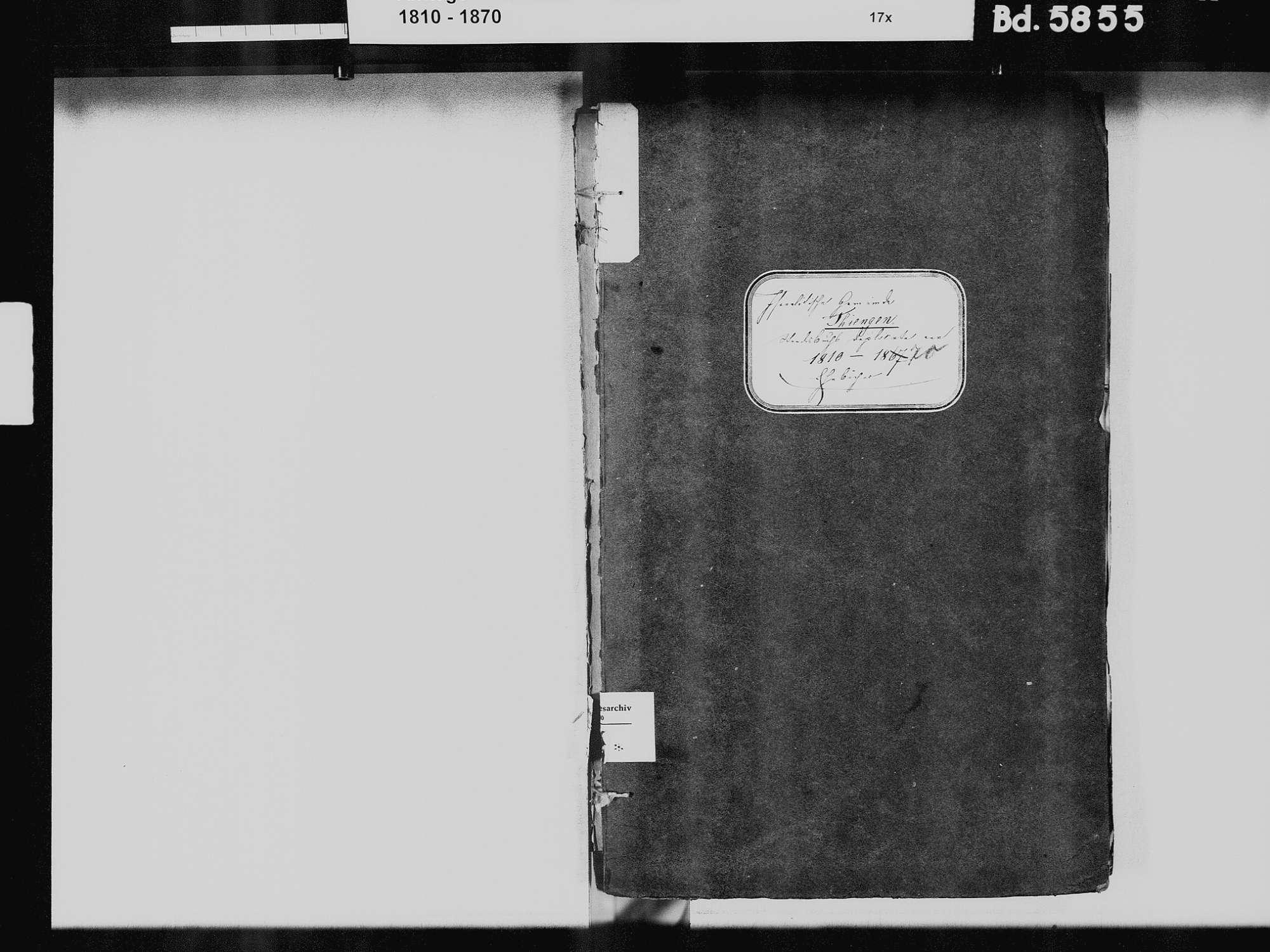 Tiengen/Hochrhein, Waldshut-Tiengen WT; Israelitische Gemeinde: Heiratsbuch 1810-1869, Bild 3