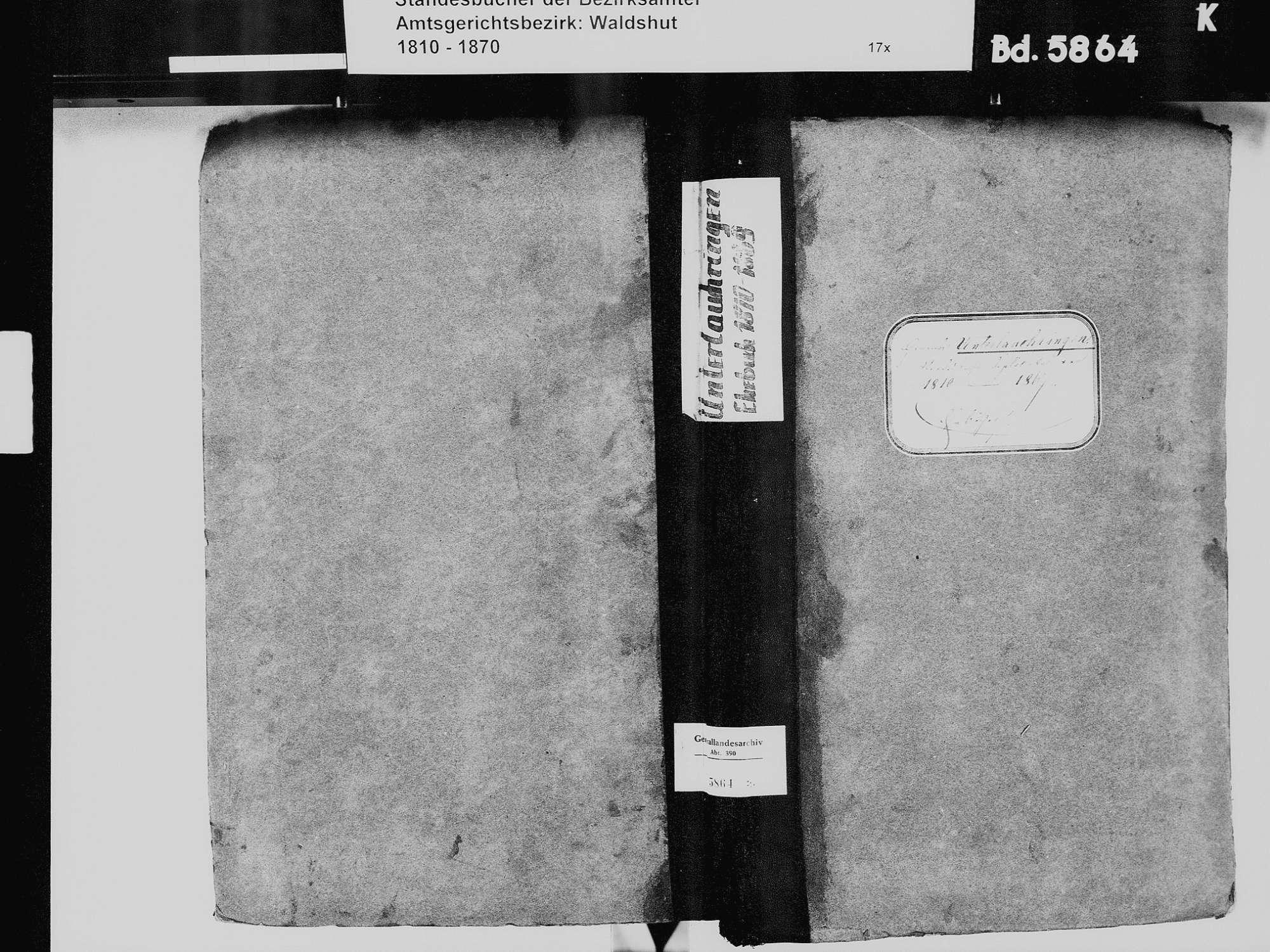 Unterlauchringen, Lauchringen WT; Katholische Gemeinde: Heiratsbuch 1810-1869, Bild 2