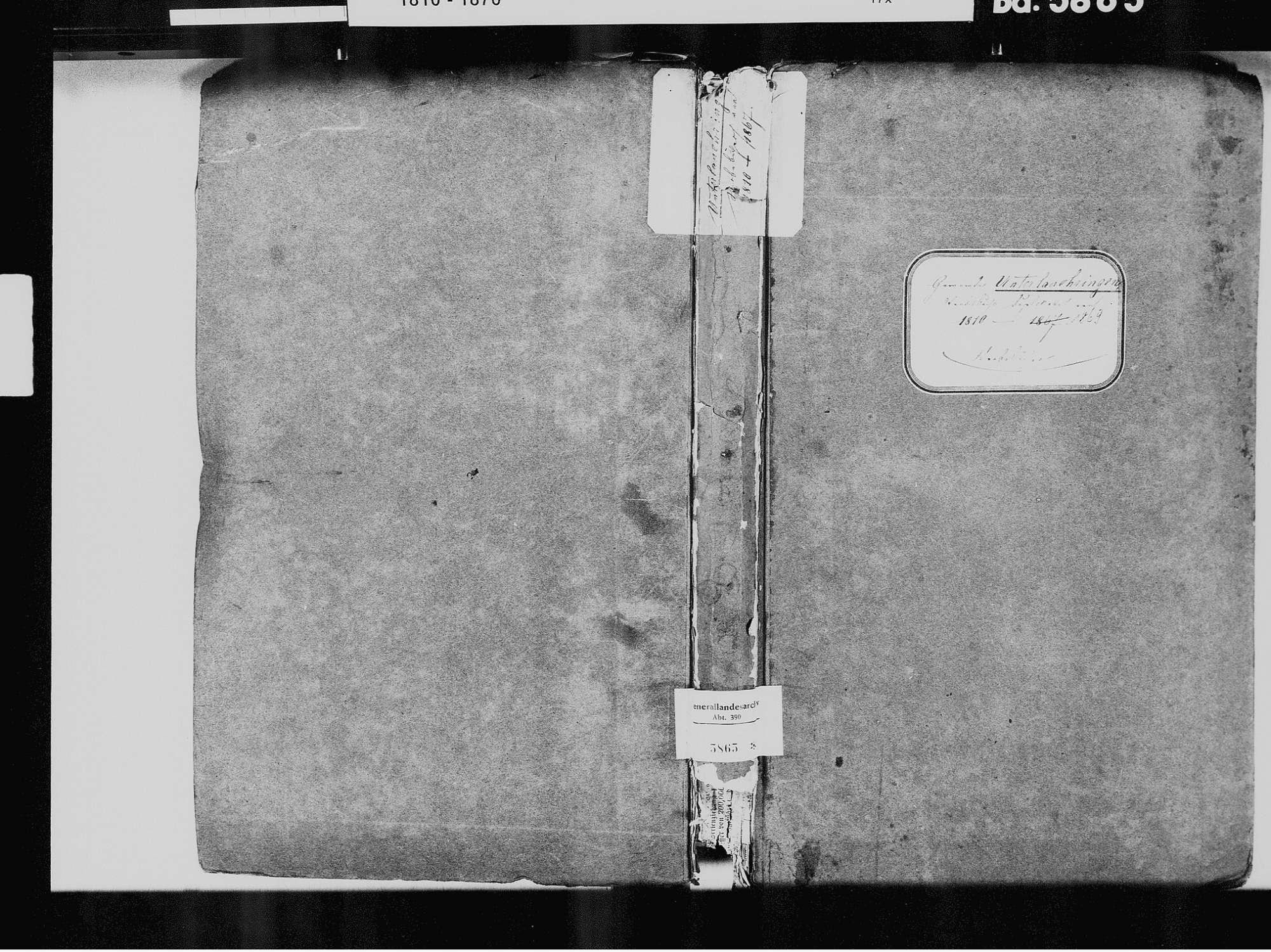 Unterlauchringen, Lauchringen WT; Katholische Gemeinde: Sterbebuch 1810-1869, Bild 2