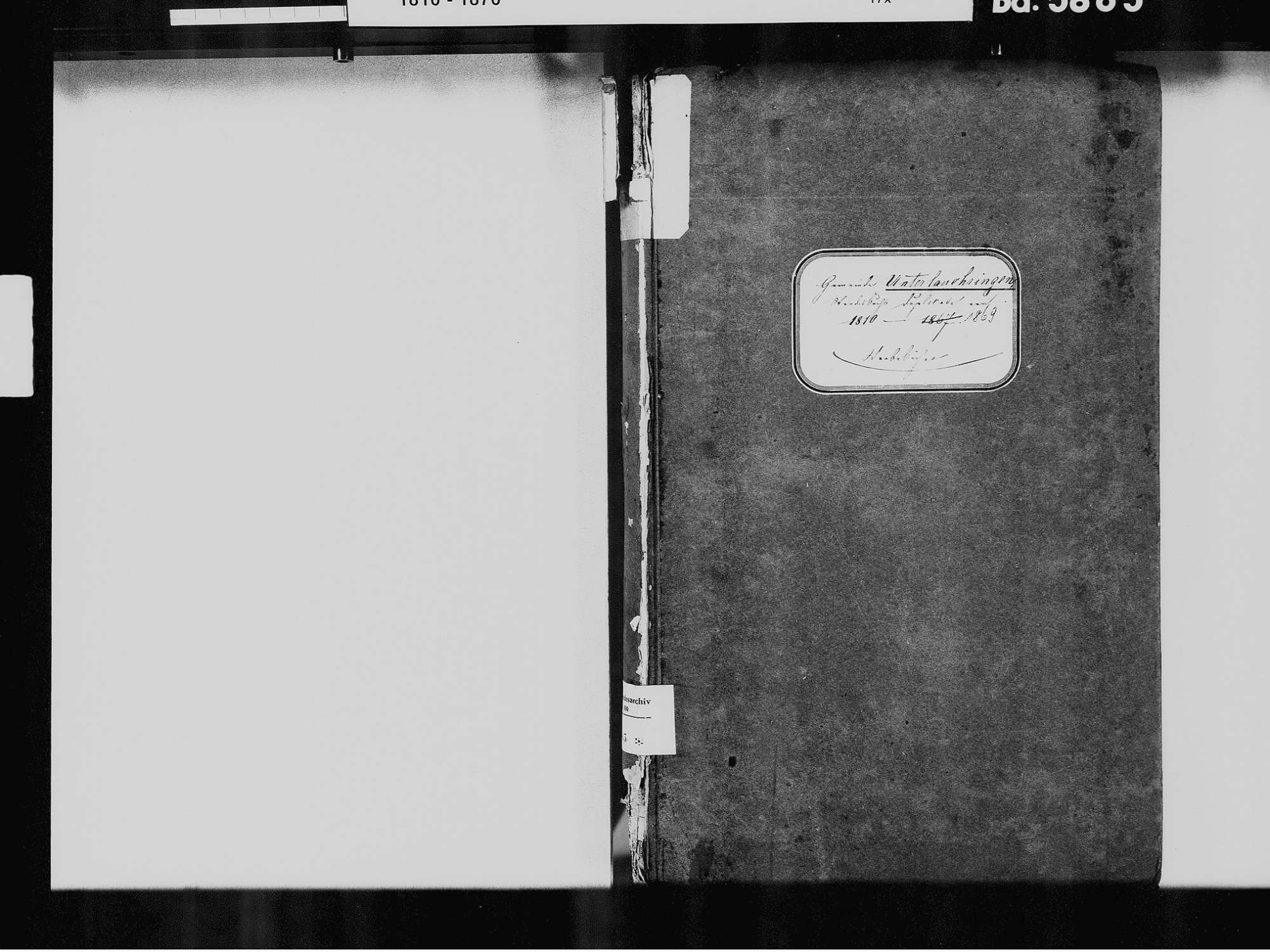 Unterlauchringen, Lauchringen WT; Katholische Gemeinde: Sterbebuch 1810-1869, Bild 3
