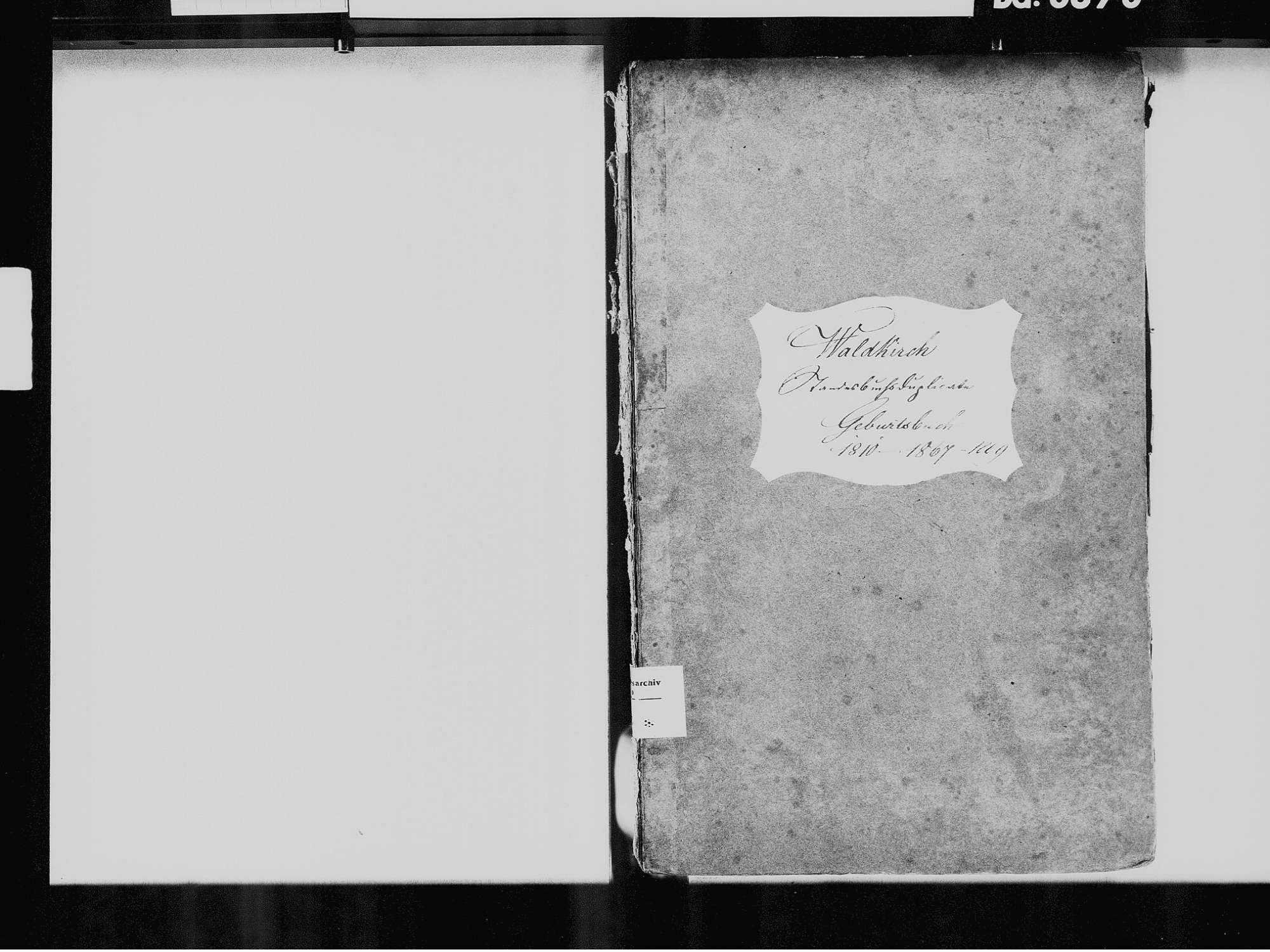 Waldkirch, Waldshut-Tiengen WT; Katholische Gemeinde: Geburtenbuch 1810-1869 Waldkirch, Waldshut-Tiengen WT; Katholische Gemeinde: Heiratsbuch 1851-1852, 1859 Waldkirch, Waldshut-Tiengen WT; Katholische Gemeinde: Sterbebuch 1852, 1863, Bild 3