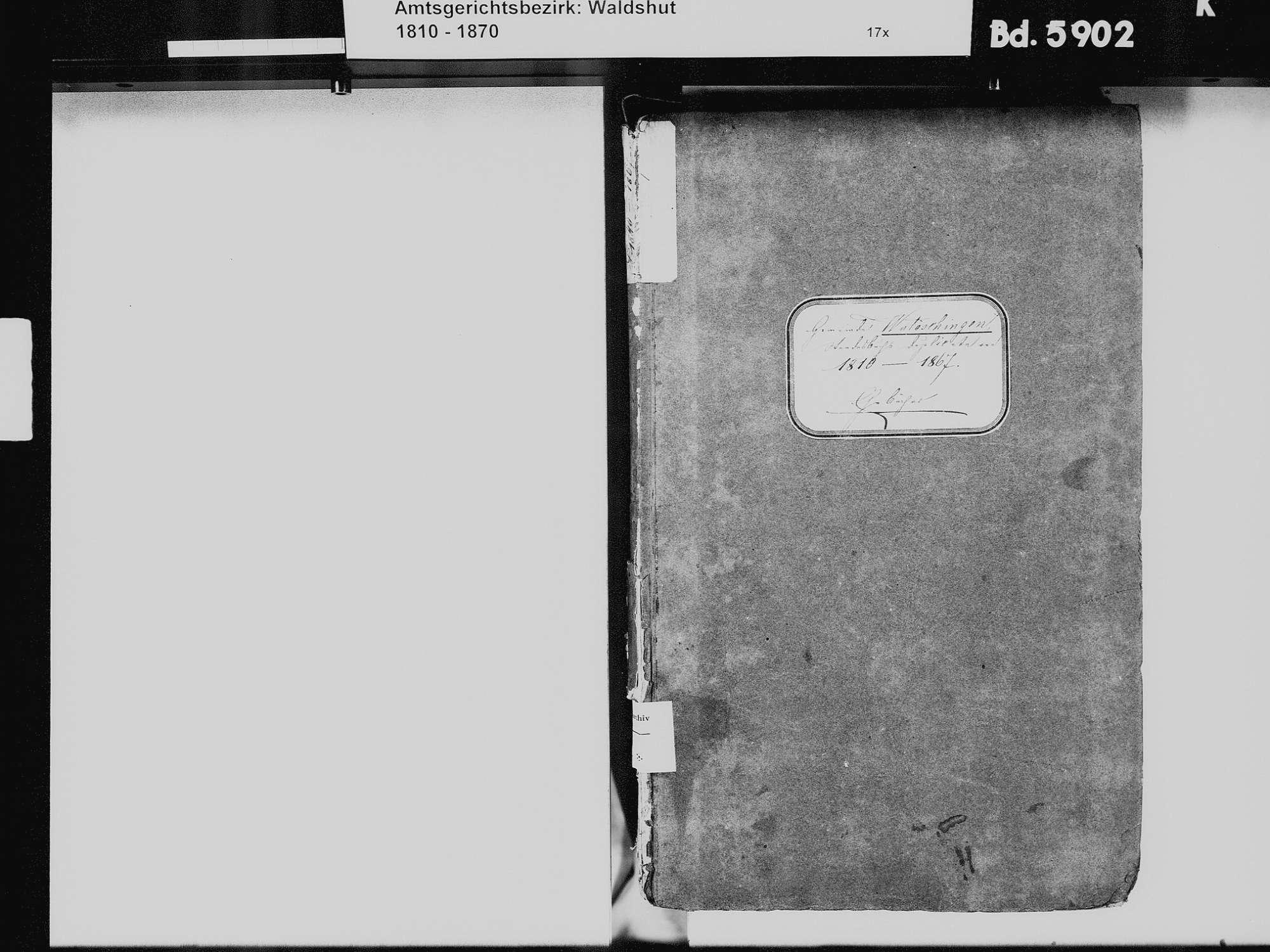 Wutöschingen WT; Katholische Gemeinde: Heiratsbuch 1810-1869 Wutöschingen WT; Katholische Gemeinde: Sterbebuch 1826, Bild 3