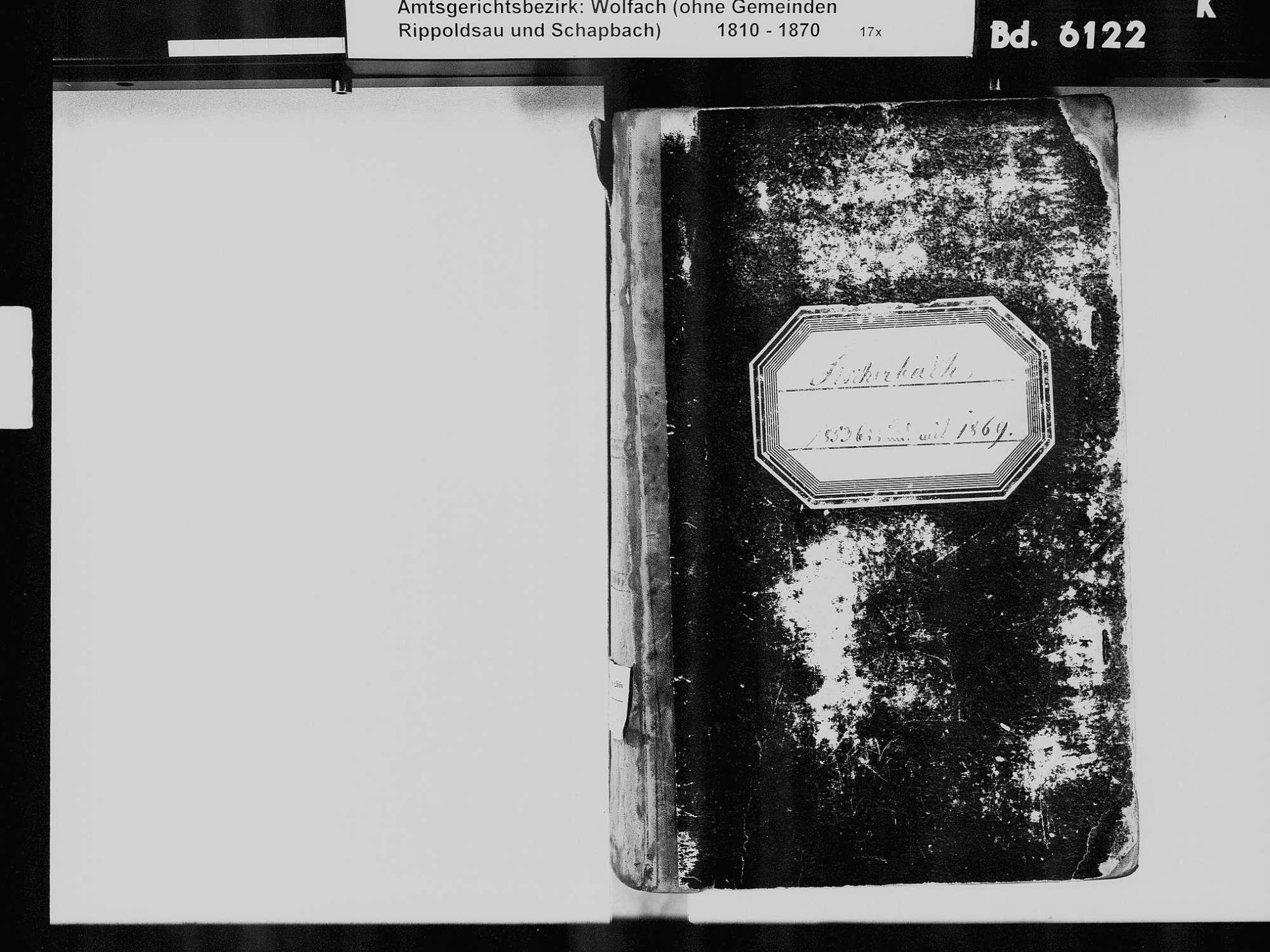 Fischerbach OG; Katholische Gemeinde: Standesbuch 1853-1869, Bild 3