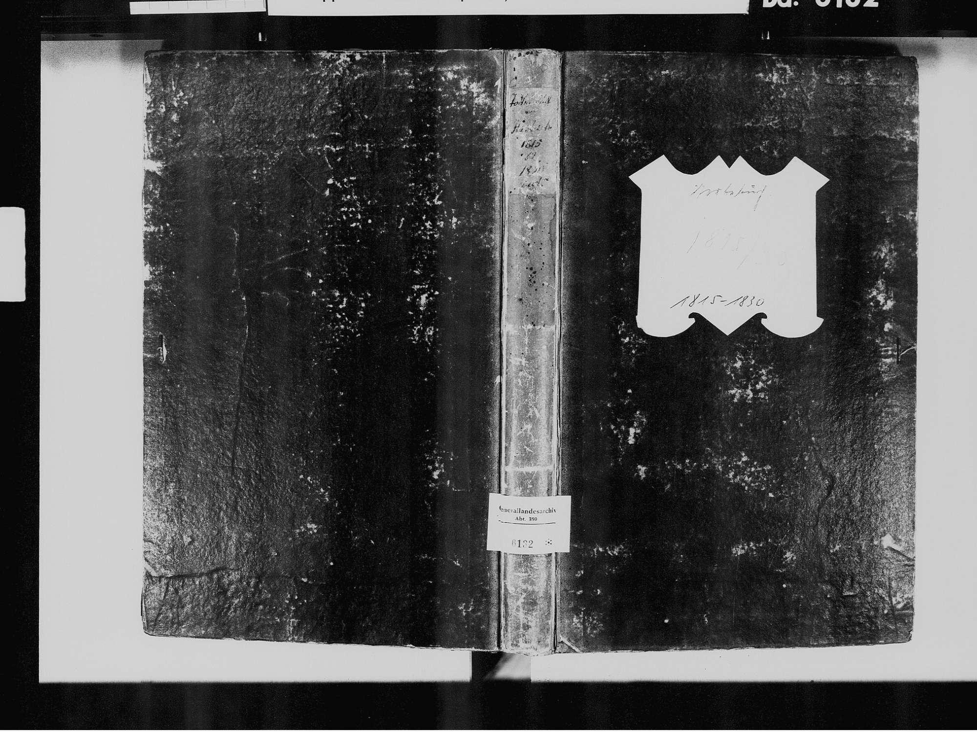 Haslach im Kinzigtal OG; Katholische Gemeinde: Sterbebuch 1815-1830, Bild 2