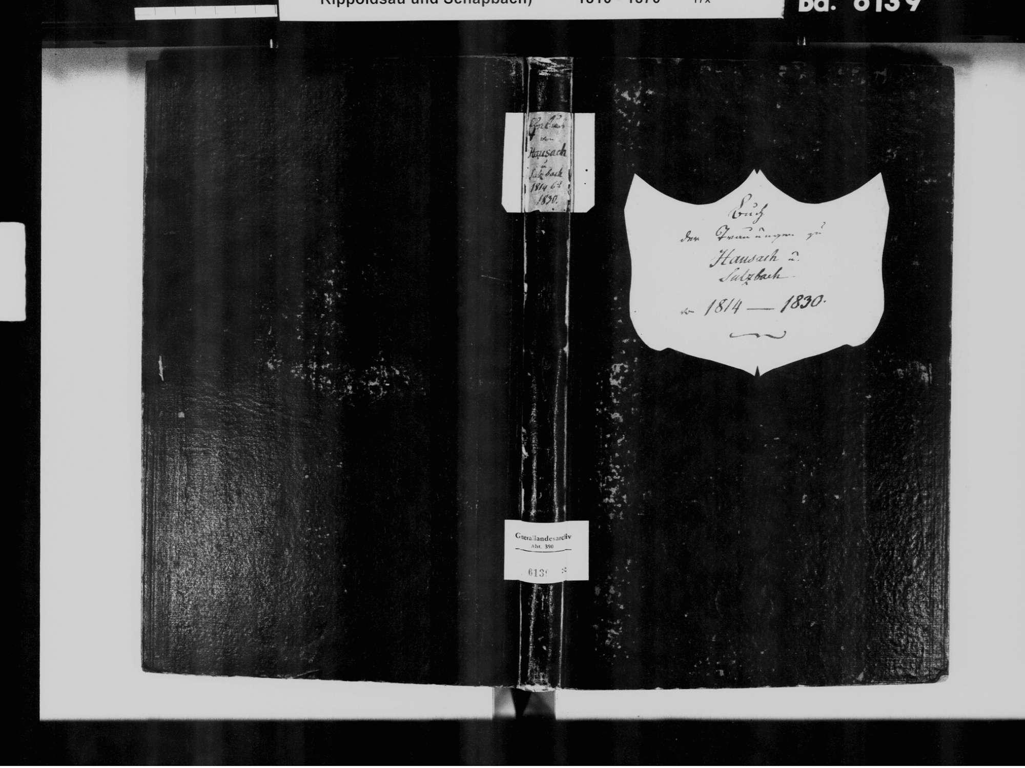 Hausach OG; Katholische Gemeinde: Heiratsbuch 1814-1830, Bild 2