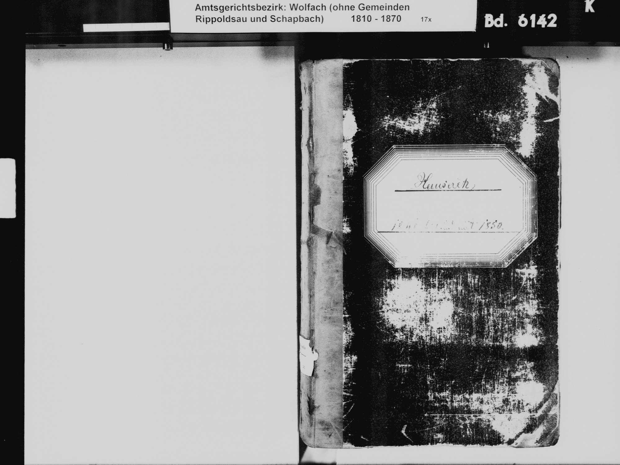 Hausach OG; Katholische Gemeinde: Standesbuch 1841-1850, Bild 3