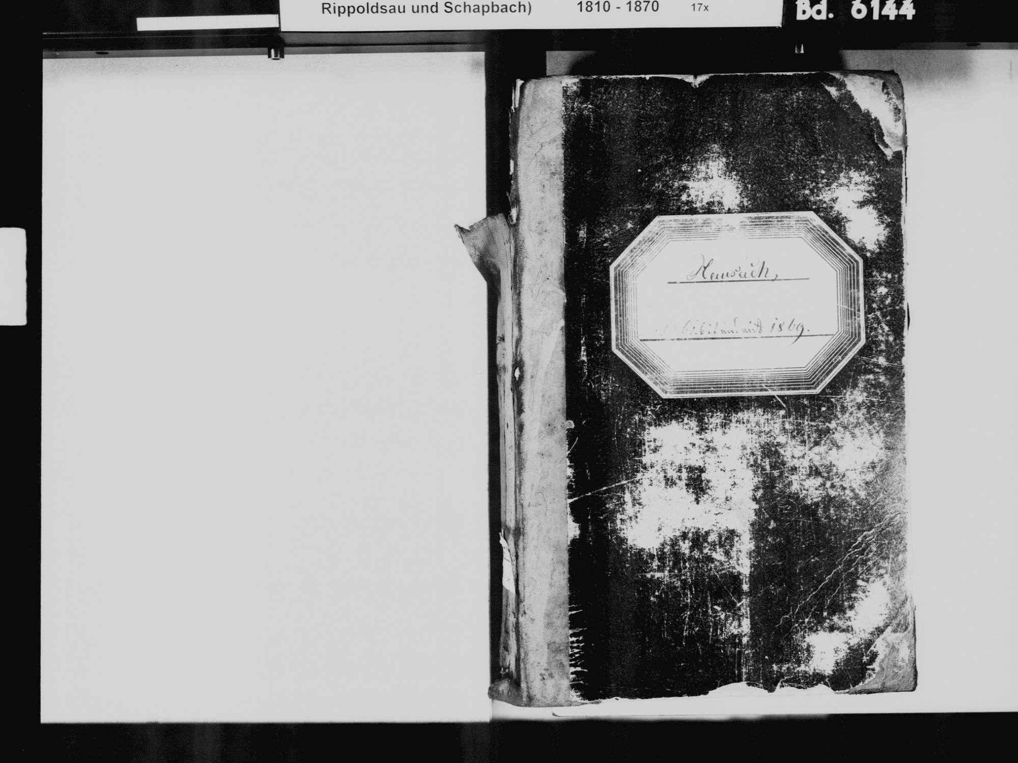 Hausach OG; Katholische Gemeinde: Standesbuch 1861-1869, Bild 3